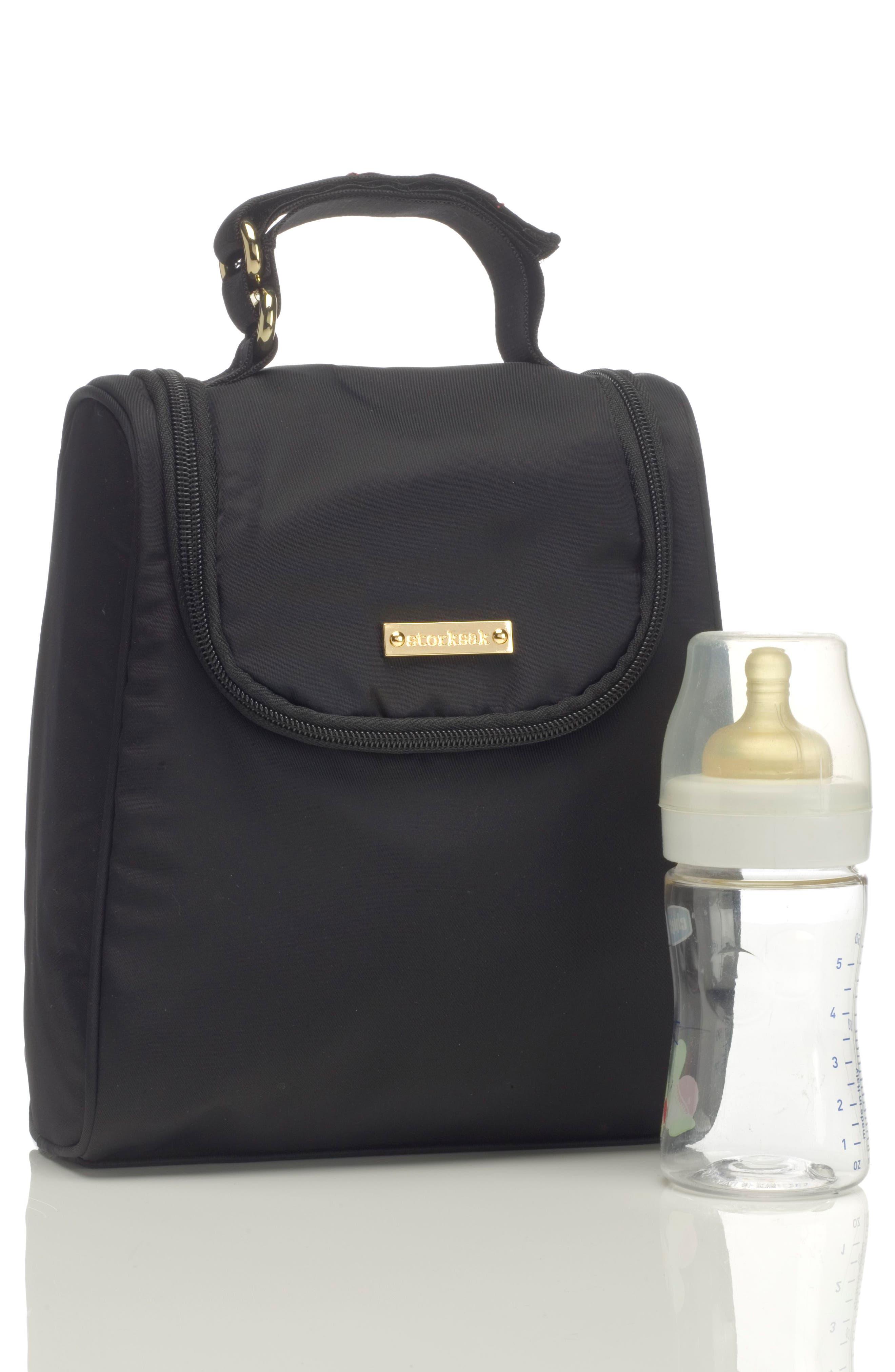 'Sandy' Diaper Bag,                             Alternate thumbnail 5, color,                             BLACK