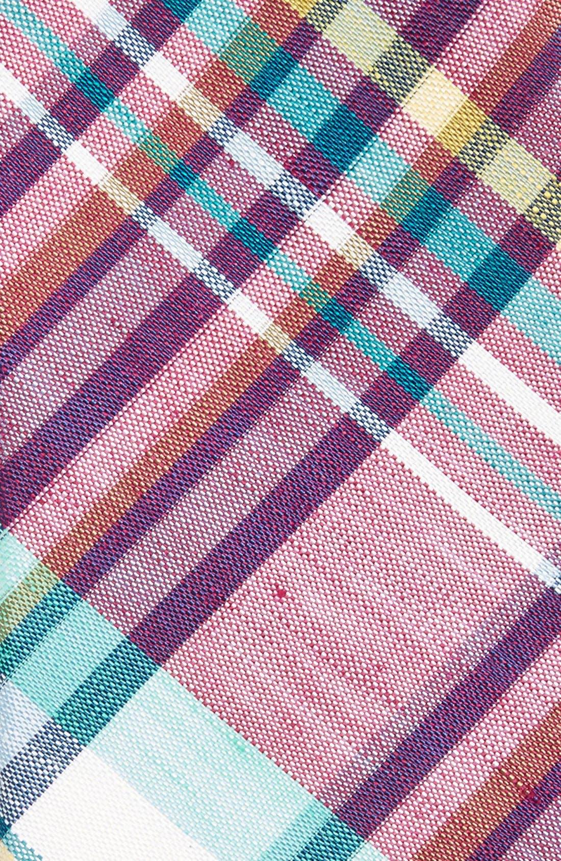 Woven Linen & Silk Tie,                             Alternate thumbnail 4, color,