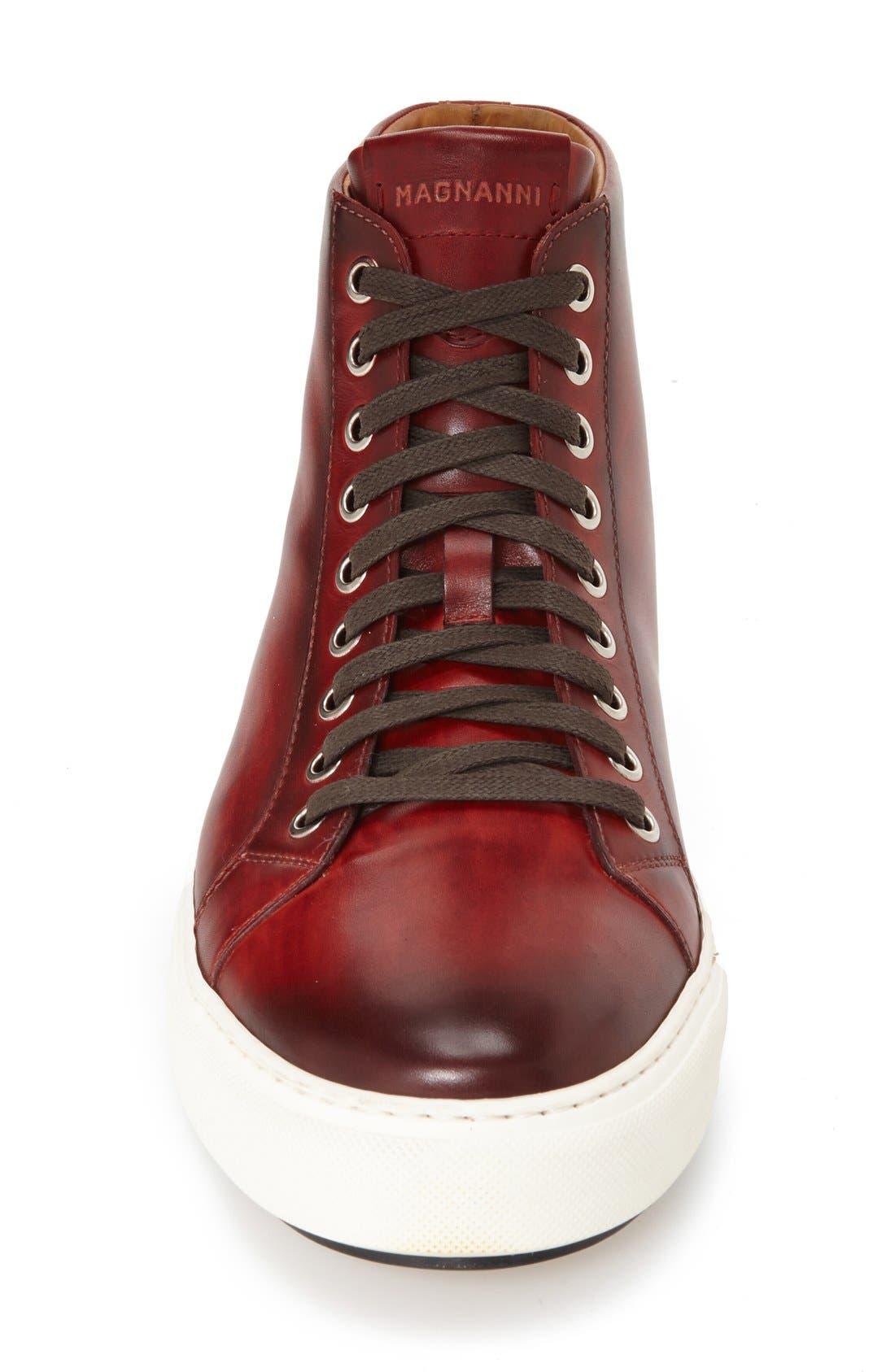 Brando High Top Sneaker,                             Alternate thumbnail 4, color,                             RED