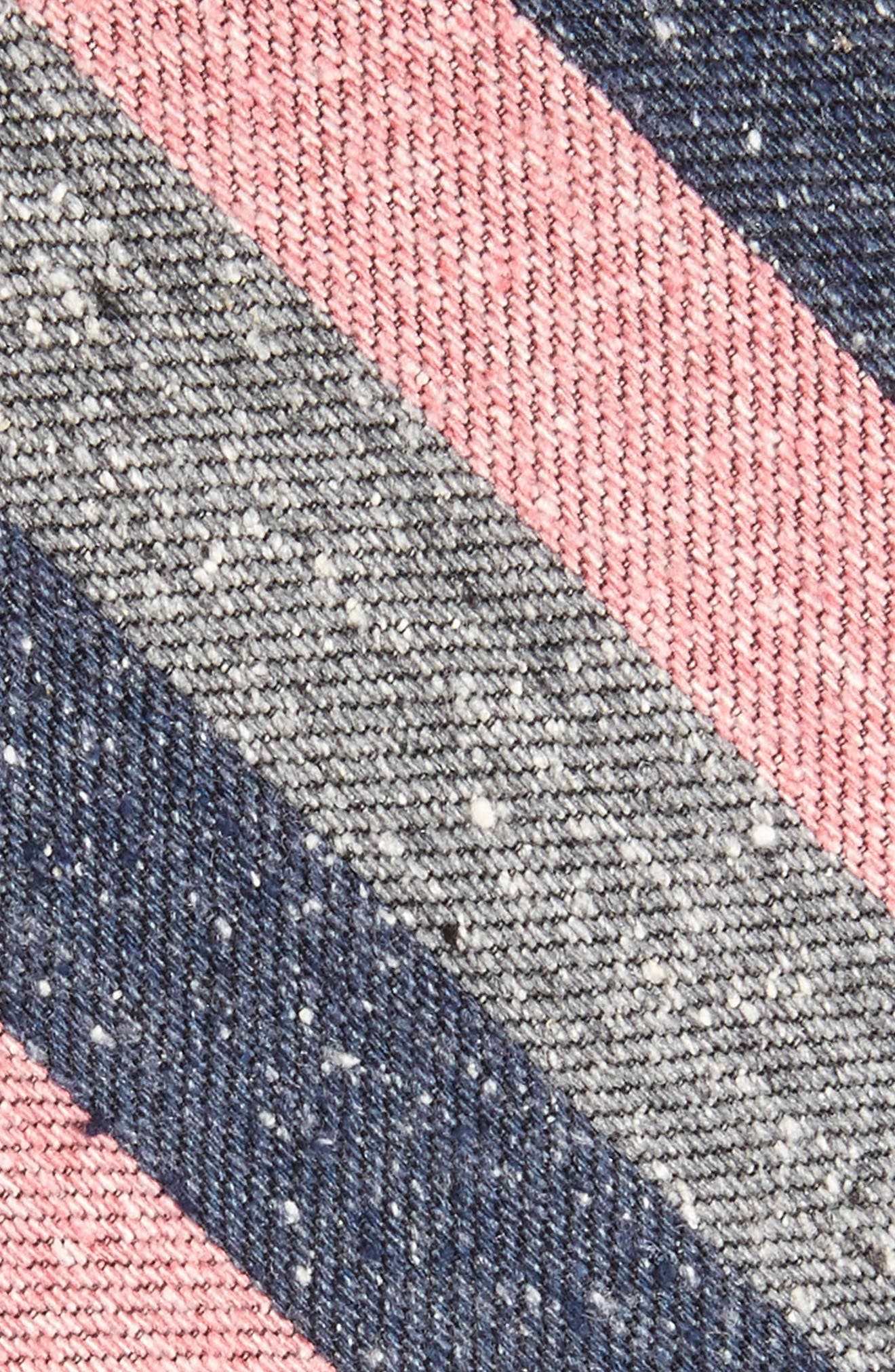 Varios Stripe Silk Skinny Tie,                             Alternate thumbnail 7, color,