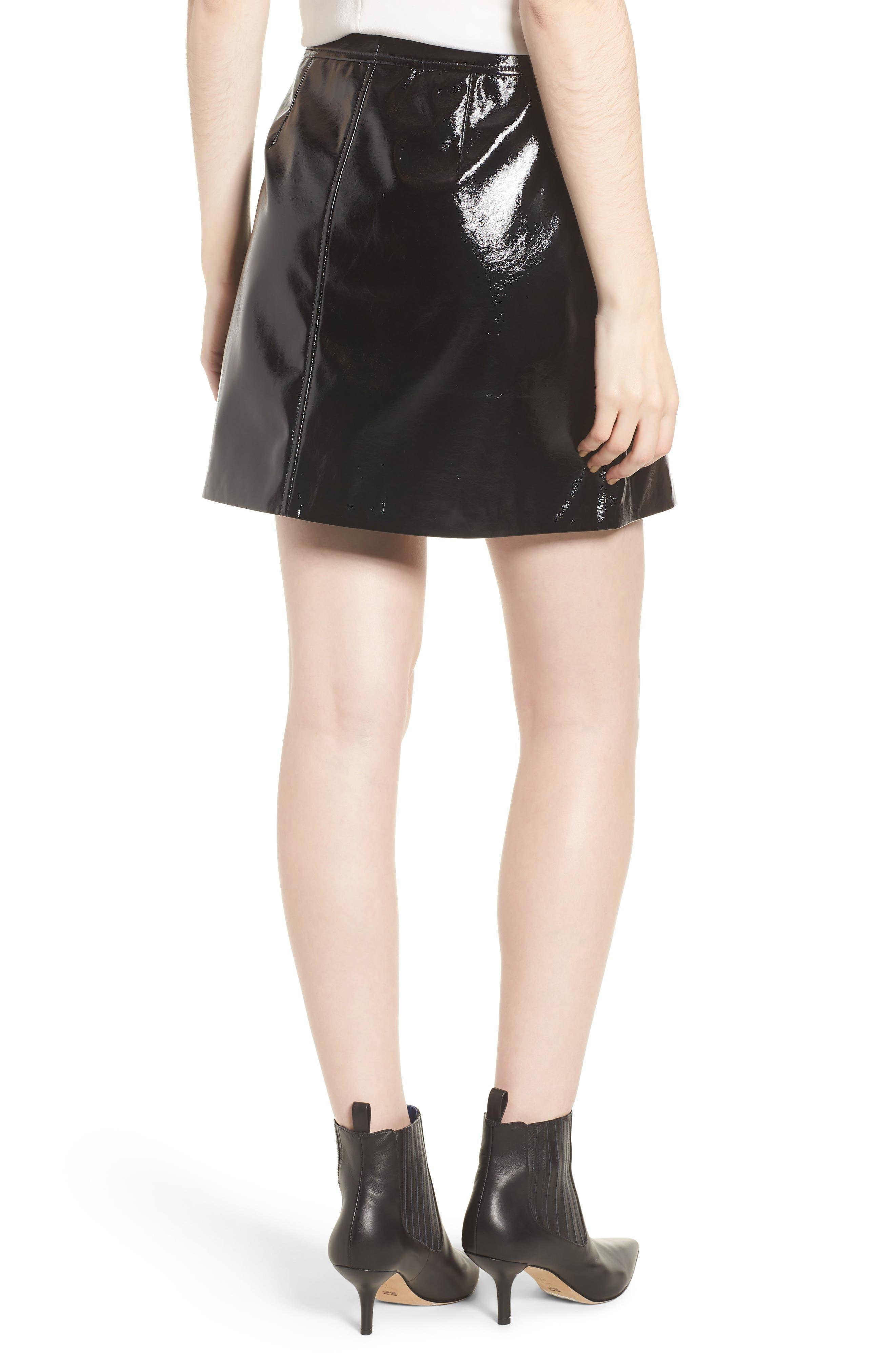 Patent Miniskirt,                             Alternate thumbnail 2, color,                             001