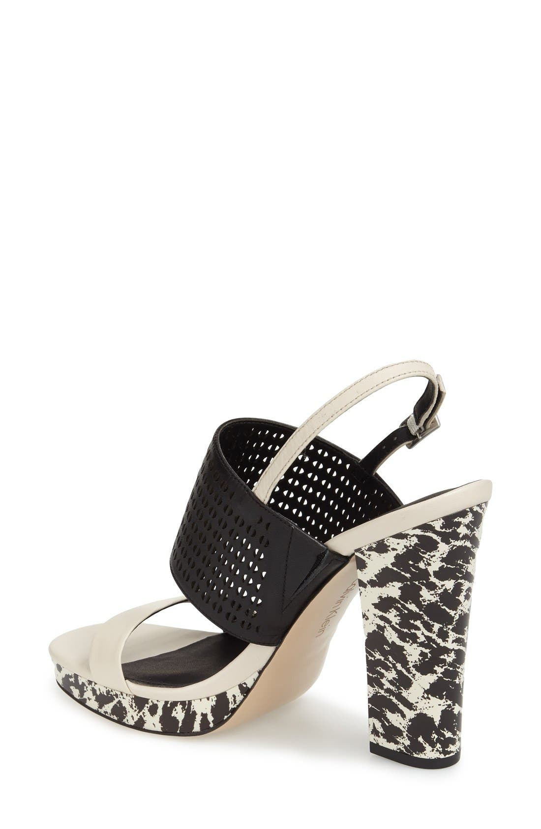 'Breannie' Slingback Platform Sandal,                             Alternate thumbnail 3, color,                             900