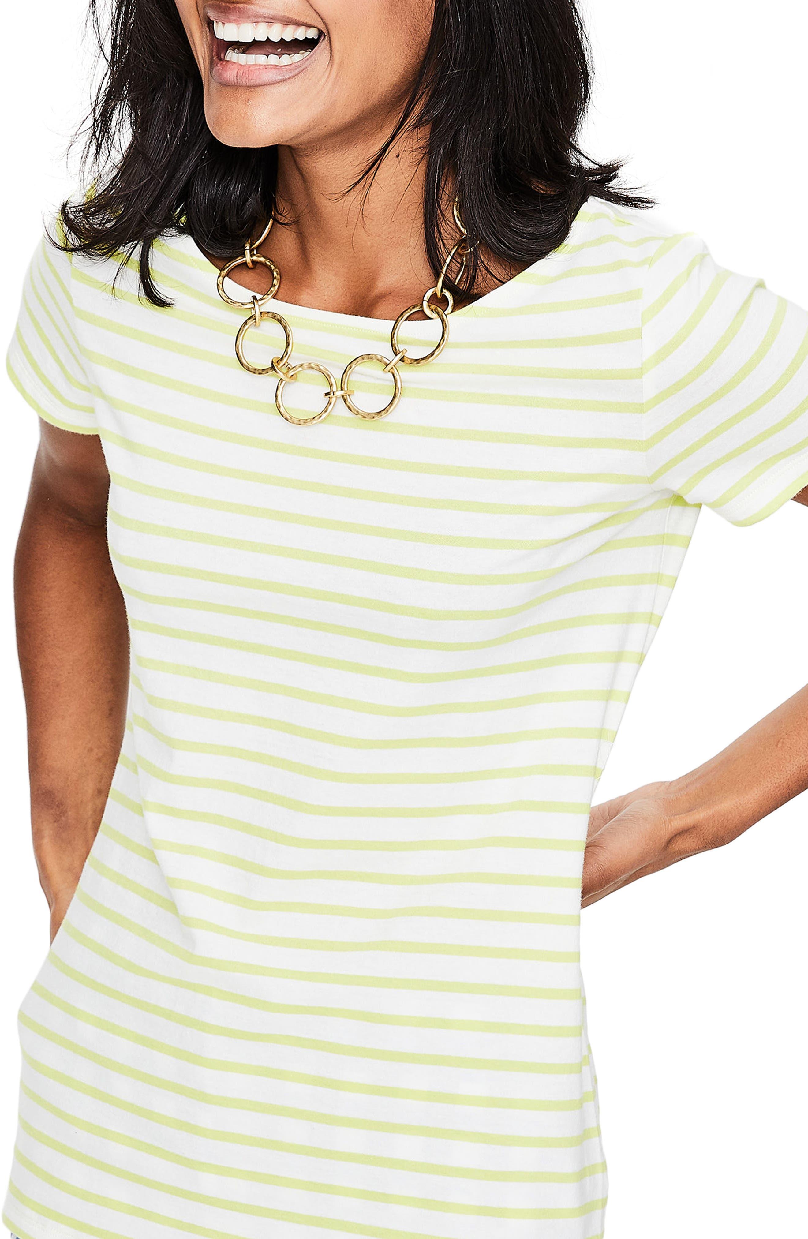 Breton Short Sleeve Stripe Cotton Top,                             Alternate thumbnail 14, color,