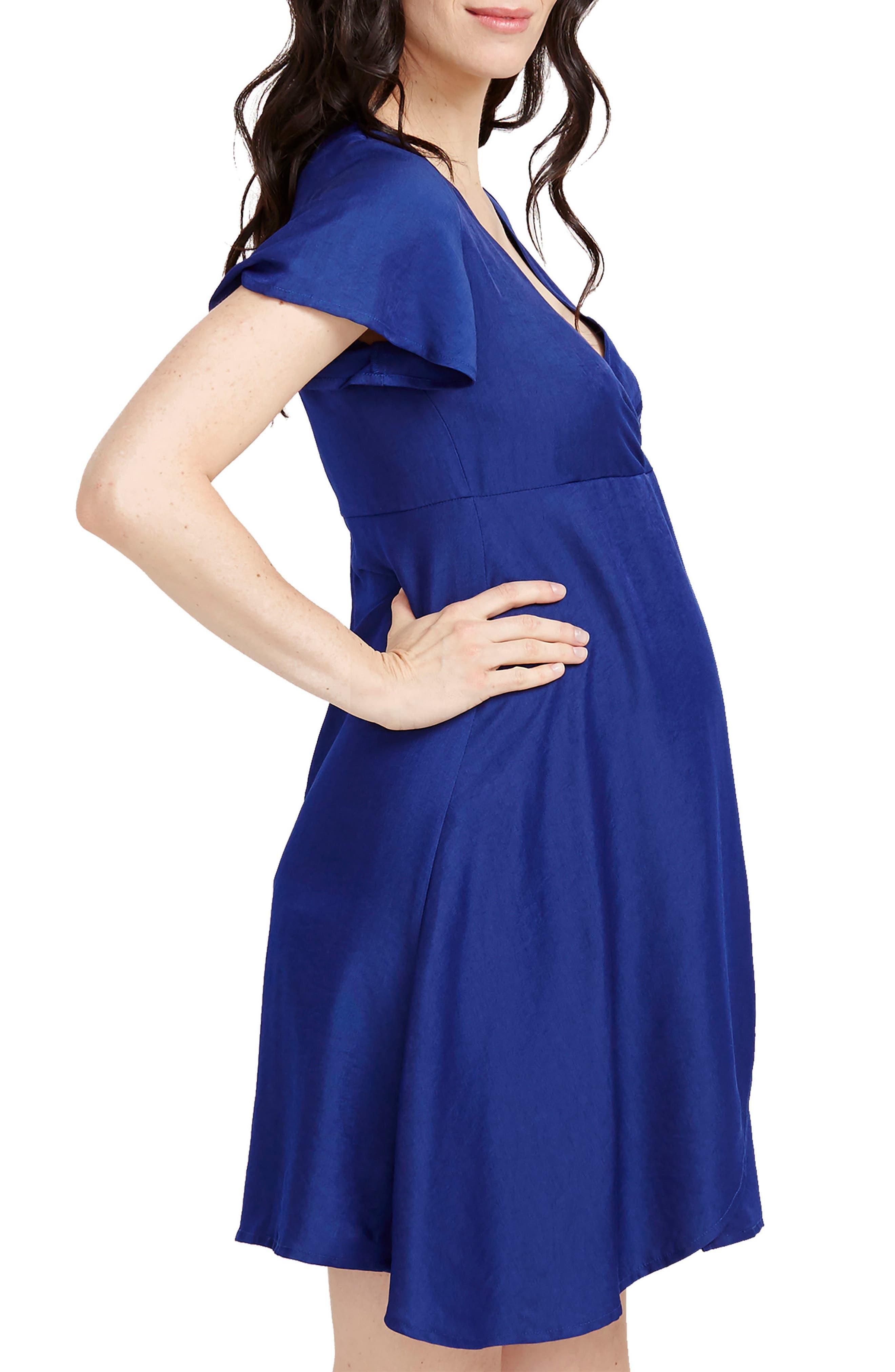 ROSIE POPE,                             Grace Maternity Dress,                             Alternate thumbnail 3, color,                             410
