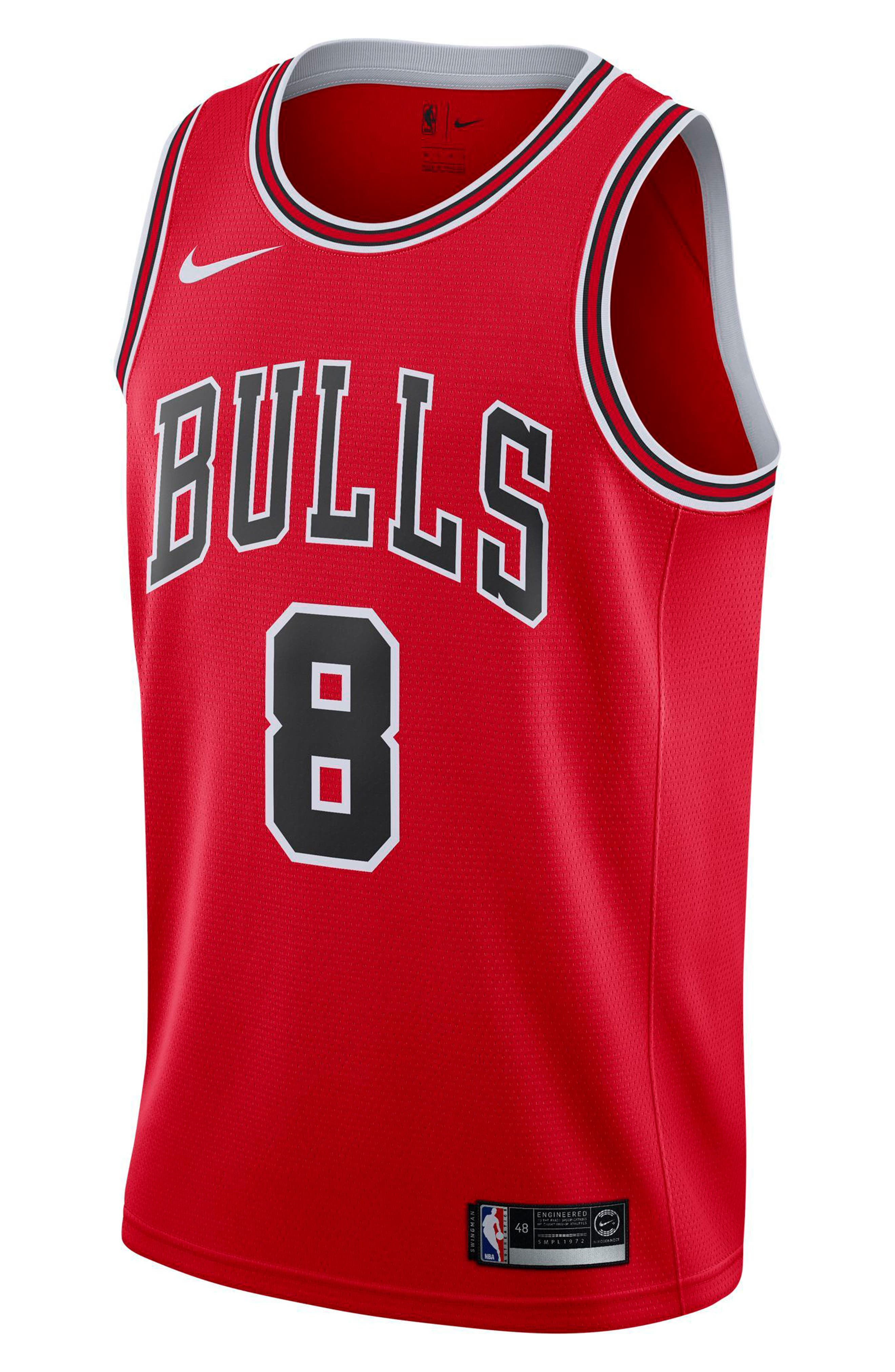 Chicago Bulls Icon Edition Swingman NBA Jersey,                             Main thumbnail 2, color,