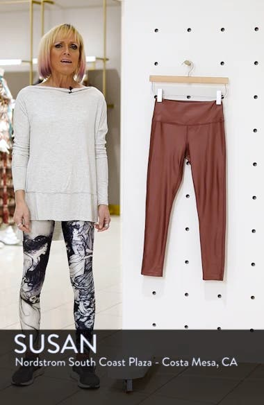 High Waist Shine Midi Leggings, sales video thumbnail