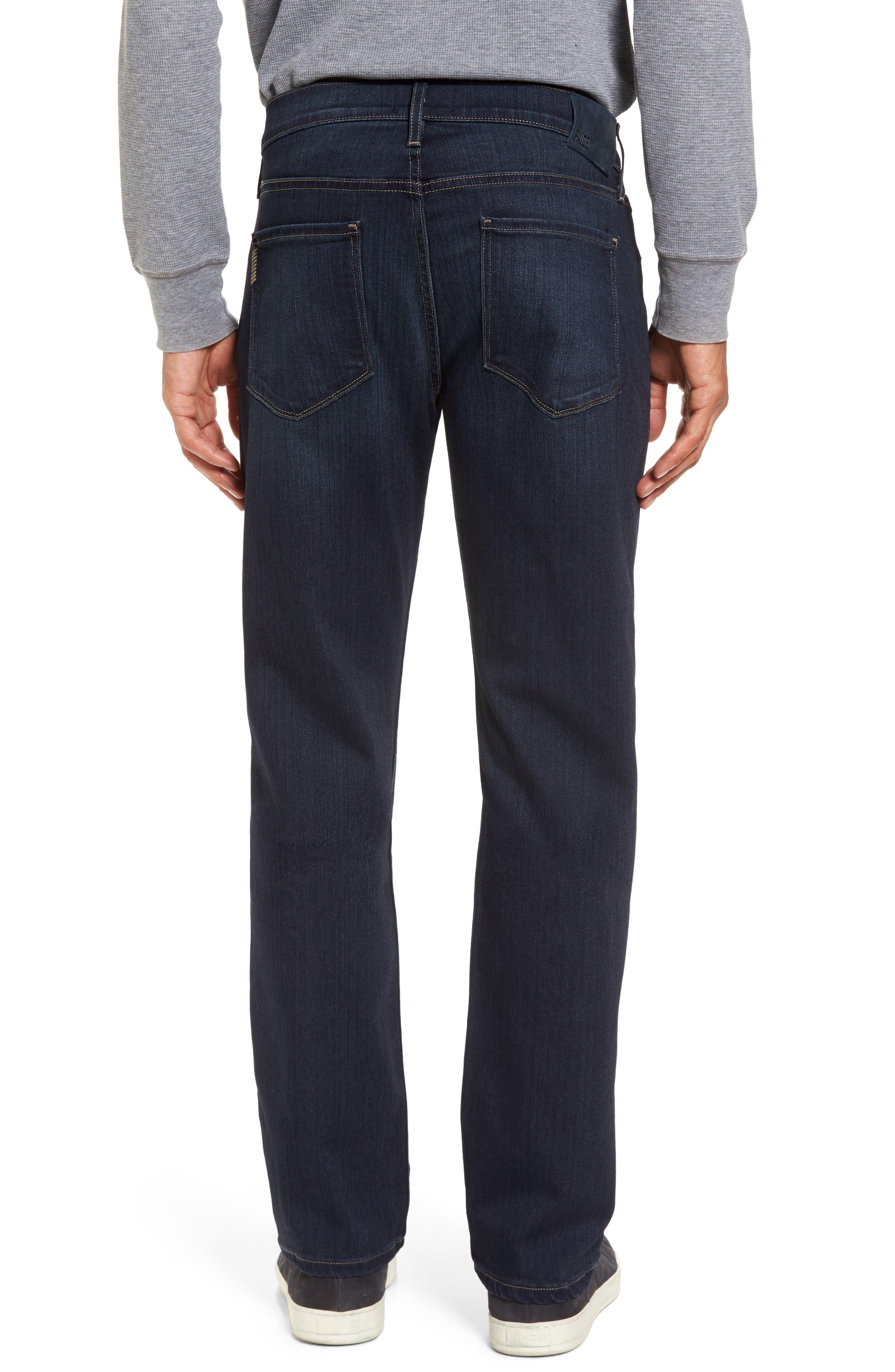 Transcend - Normandie Straight Fit Jeans,                             Alternate thumbnail 2, color,