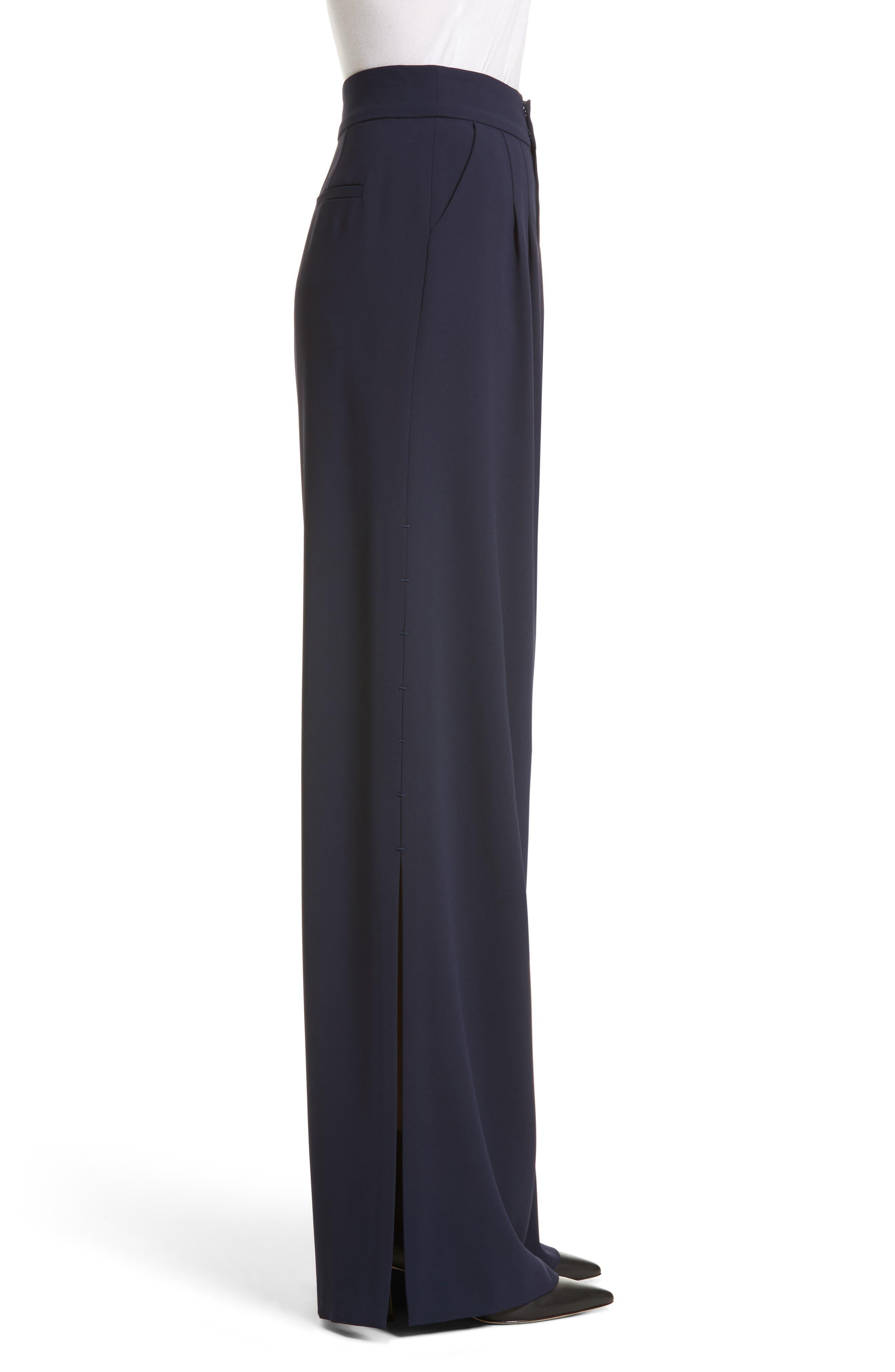 Shavon High Waist Side Slit Flare Pants,                             Alternate thumbnail 3, color,                             400