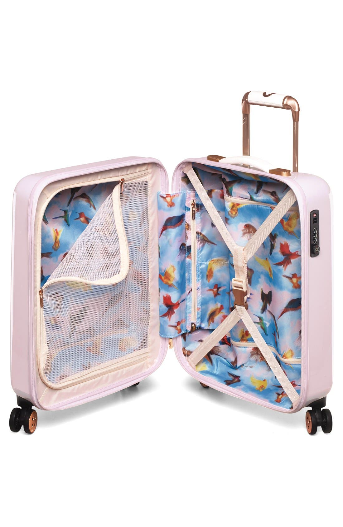 Small Hanging Gardens Four Wheel Suitcase,                             Alternate thumbnail 3, color,                             650