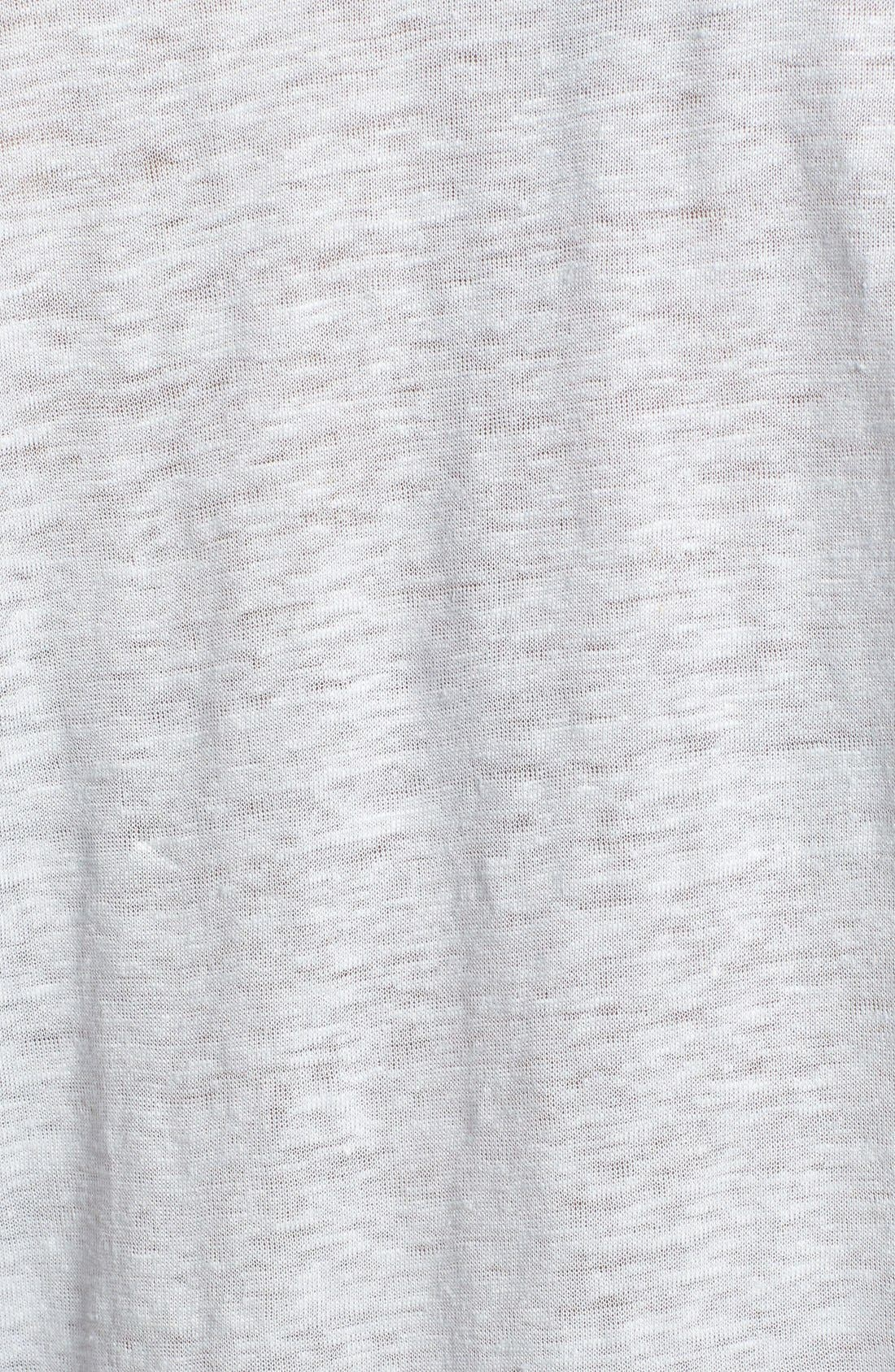 'Maddie' Linen Tee,                             Alternate thumbnail 3, color,                             053