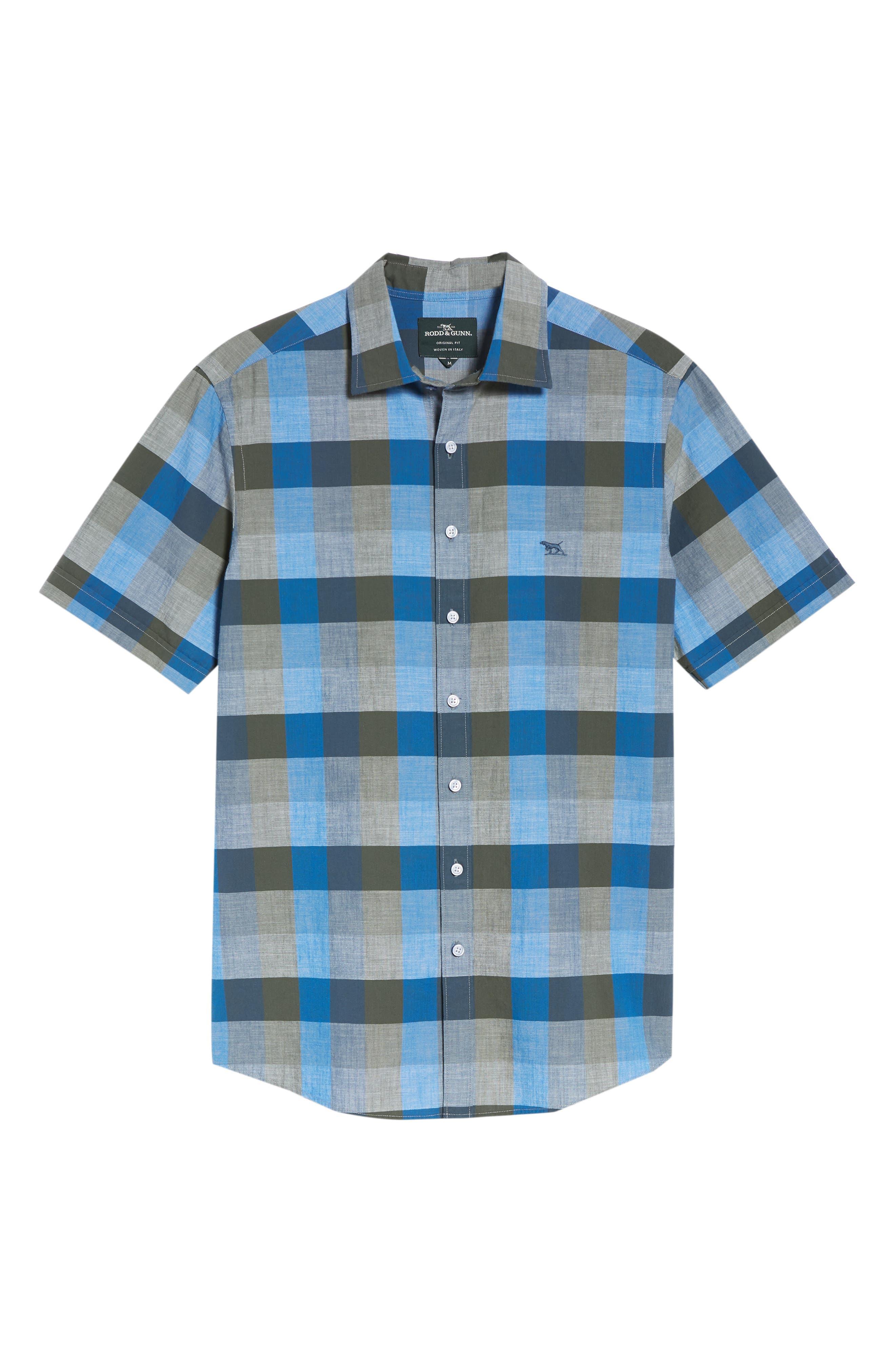 Knighton Regular Fit Sport Shirt,                             Alternate thumbnail 6, color,                             RIVER