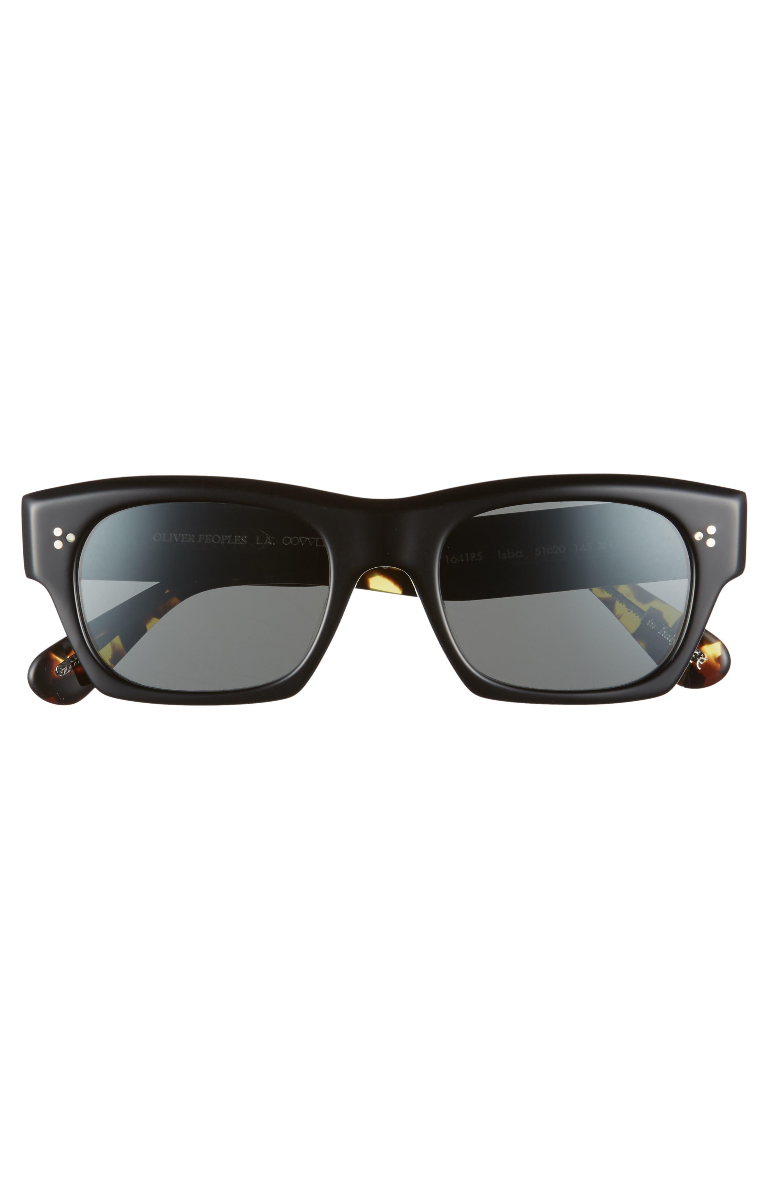 Isba 51mm Sunglasses,                             Alternate thumbnail 3, color,                             BLACK