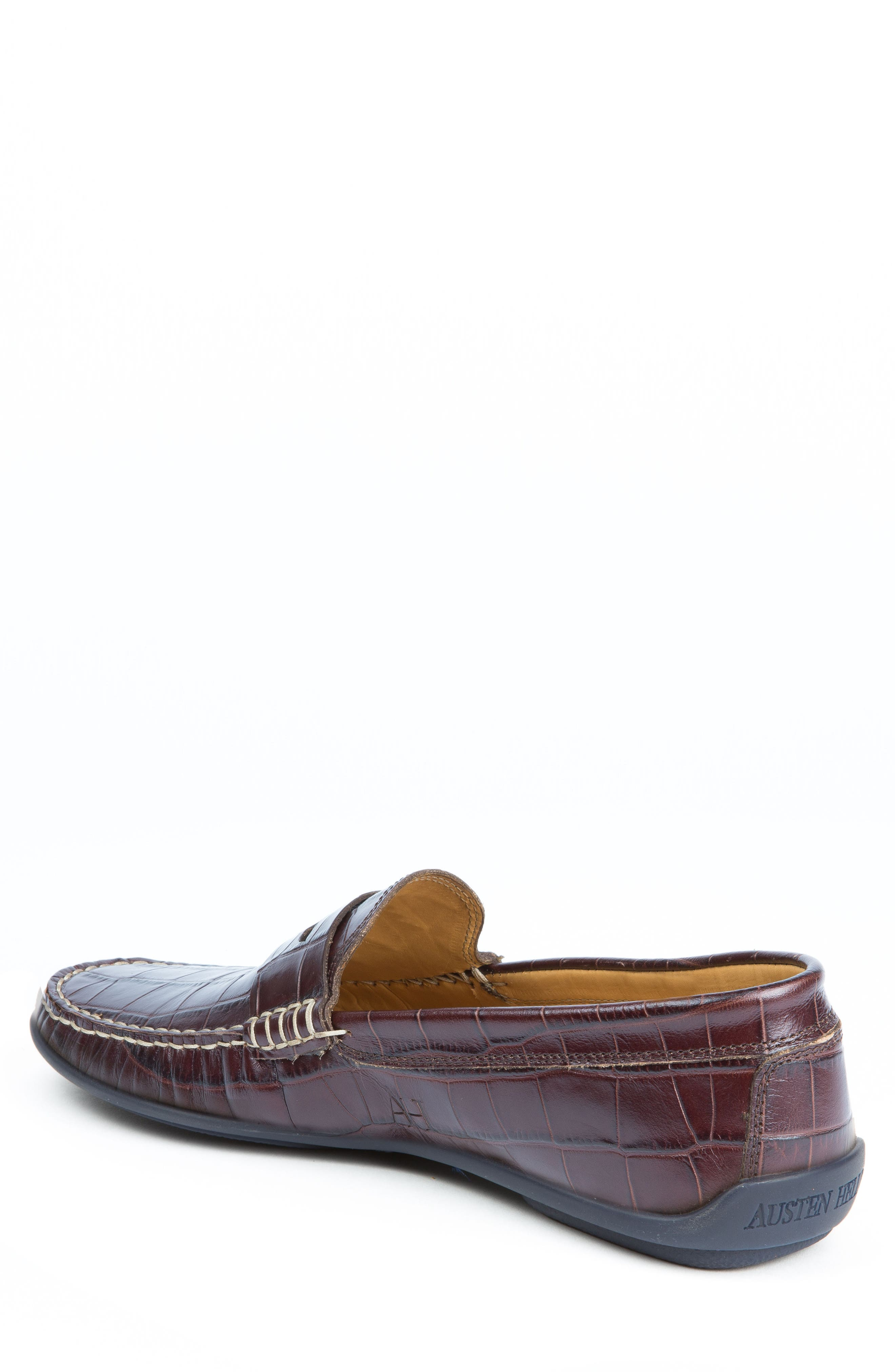 'Waverly' Leather Penny Loafer,                             Alternate thumbnail 2, color,                             BROWN