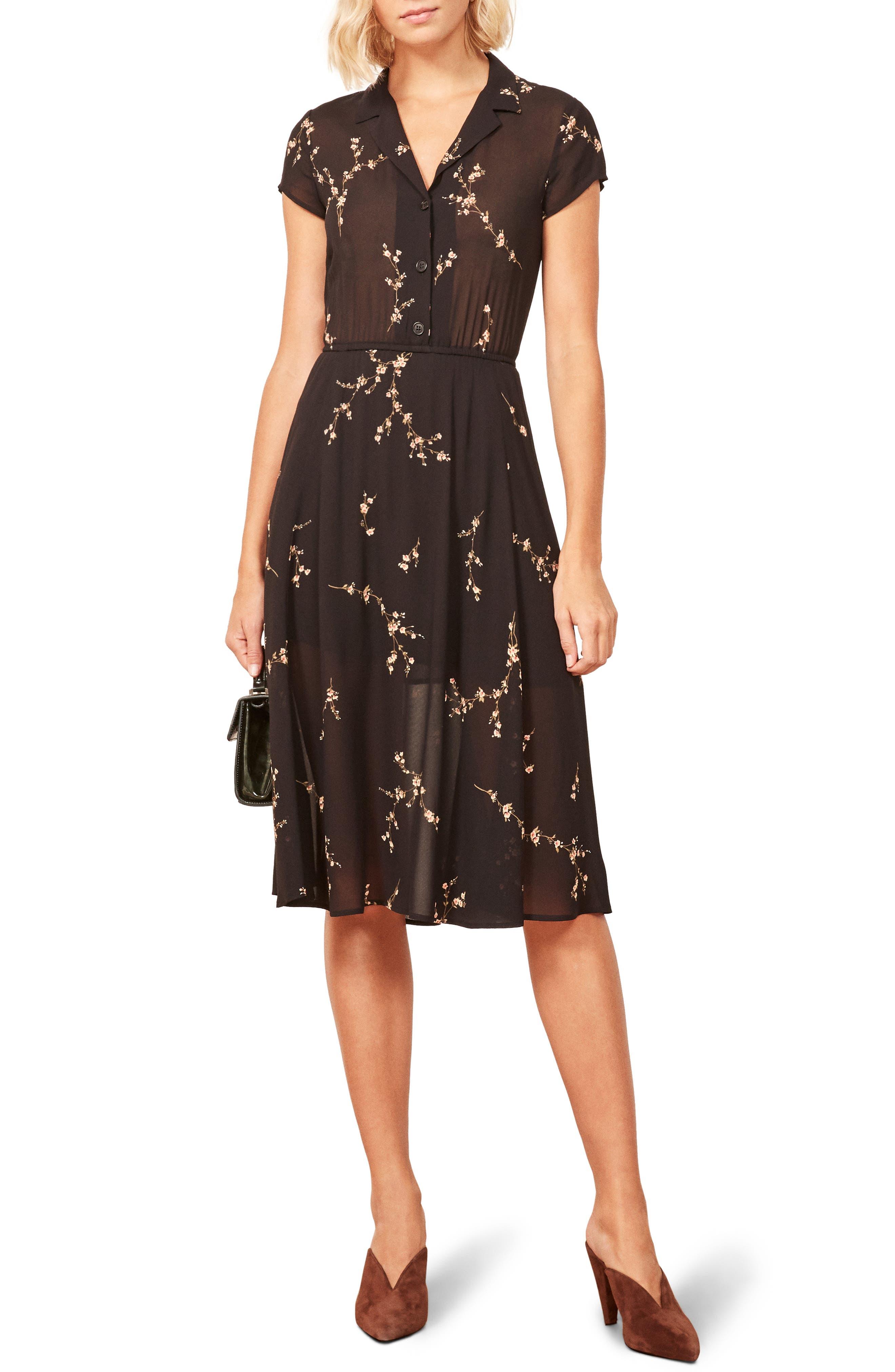Griffith A-Line Dress,                             Main thumbnail 1, color,                             001