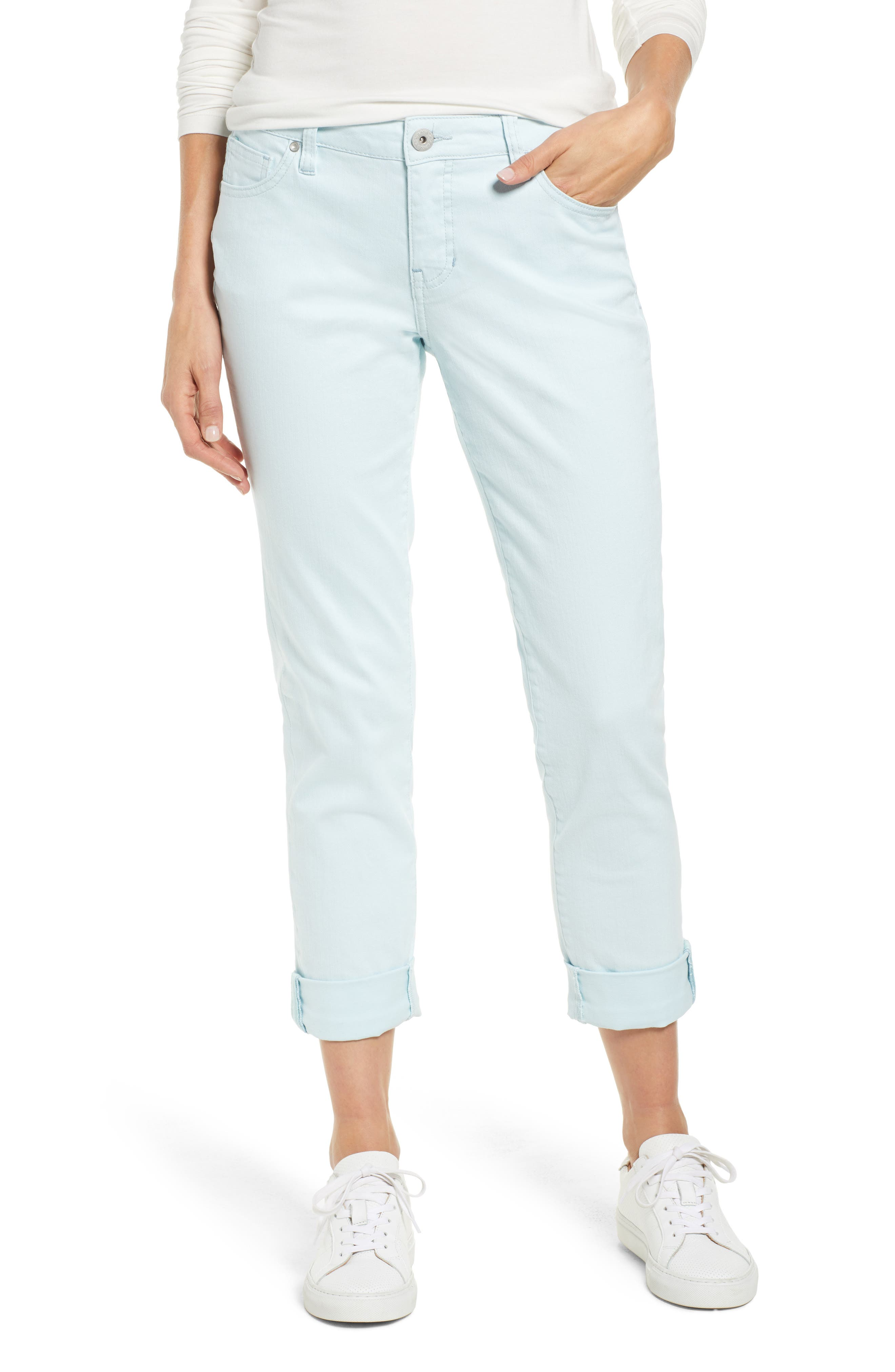 JAG JEANS Carter Girlfriend Stretch Cotton Jeans in Atmosphere