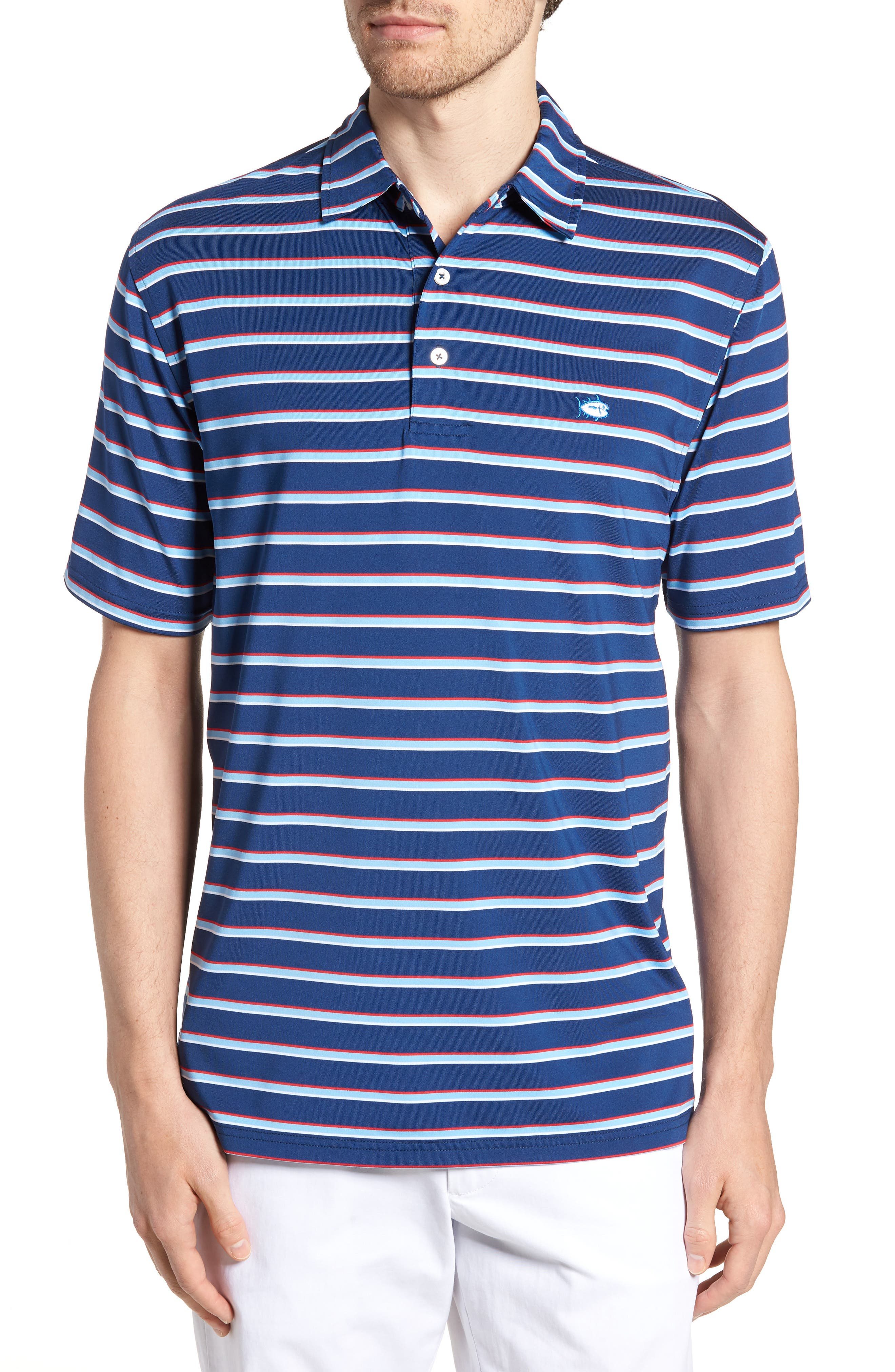 Regular Fit Multistripe Performance Polo,                         Main,                         color,