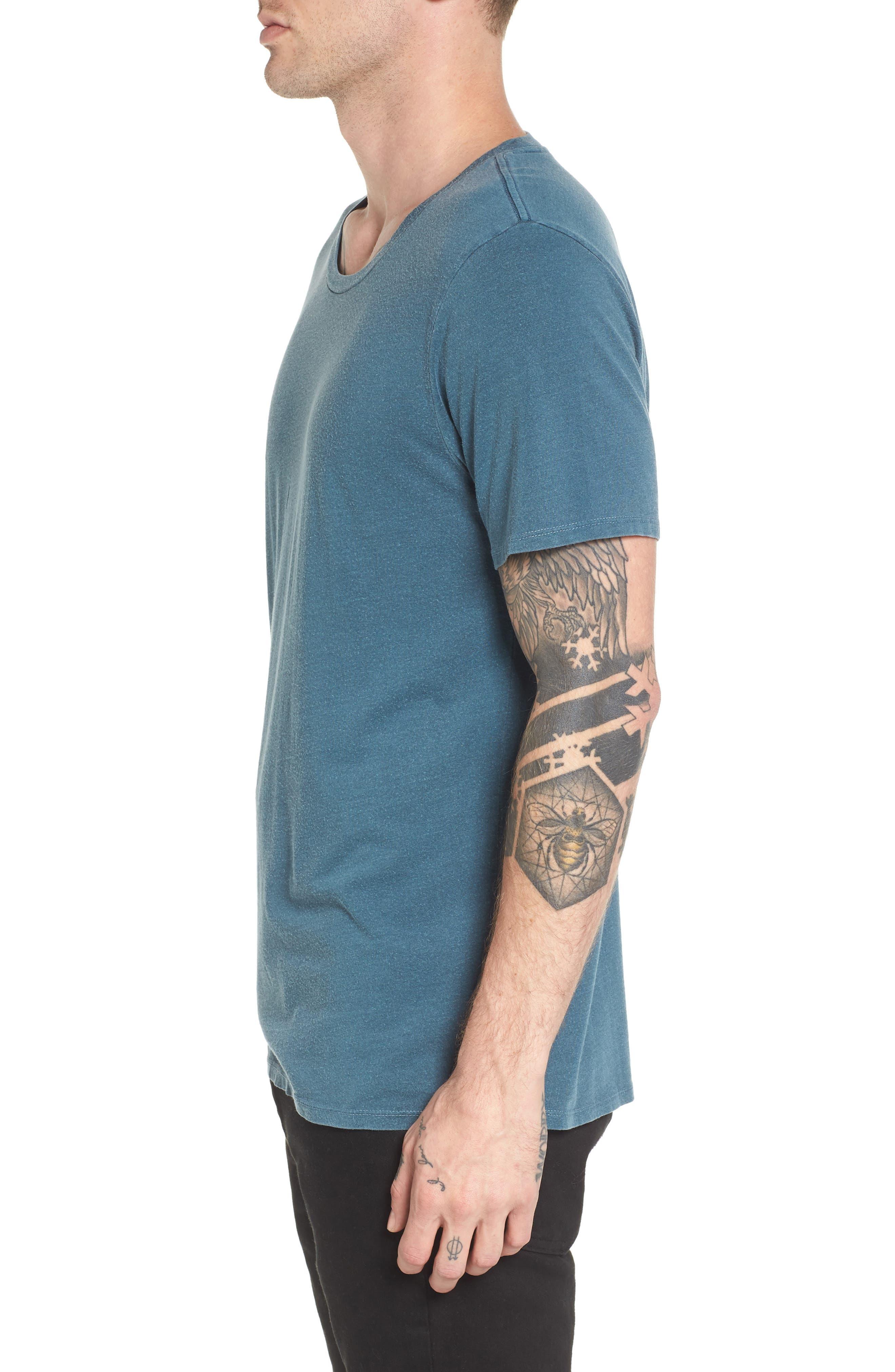 Slim Fit Scoop Neck T-Shirt,                             Alternate thumbnail 3, color,                             449