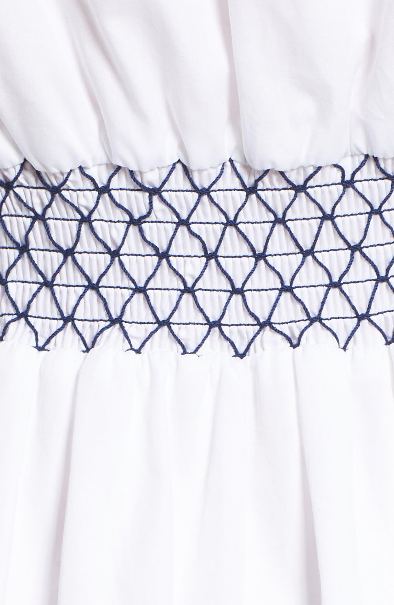 Brittany Embroidered Cold Shoulder Dress,                             Alternate thumbnail 6, color,                             100