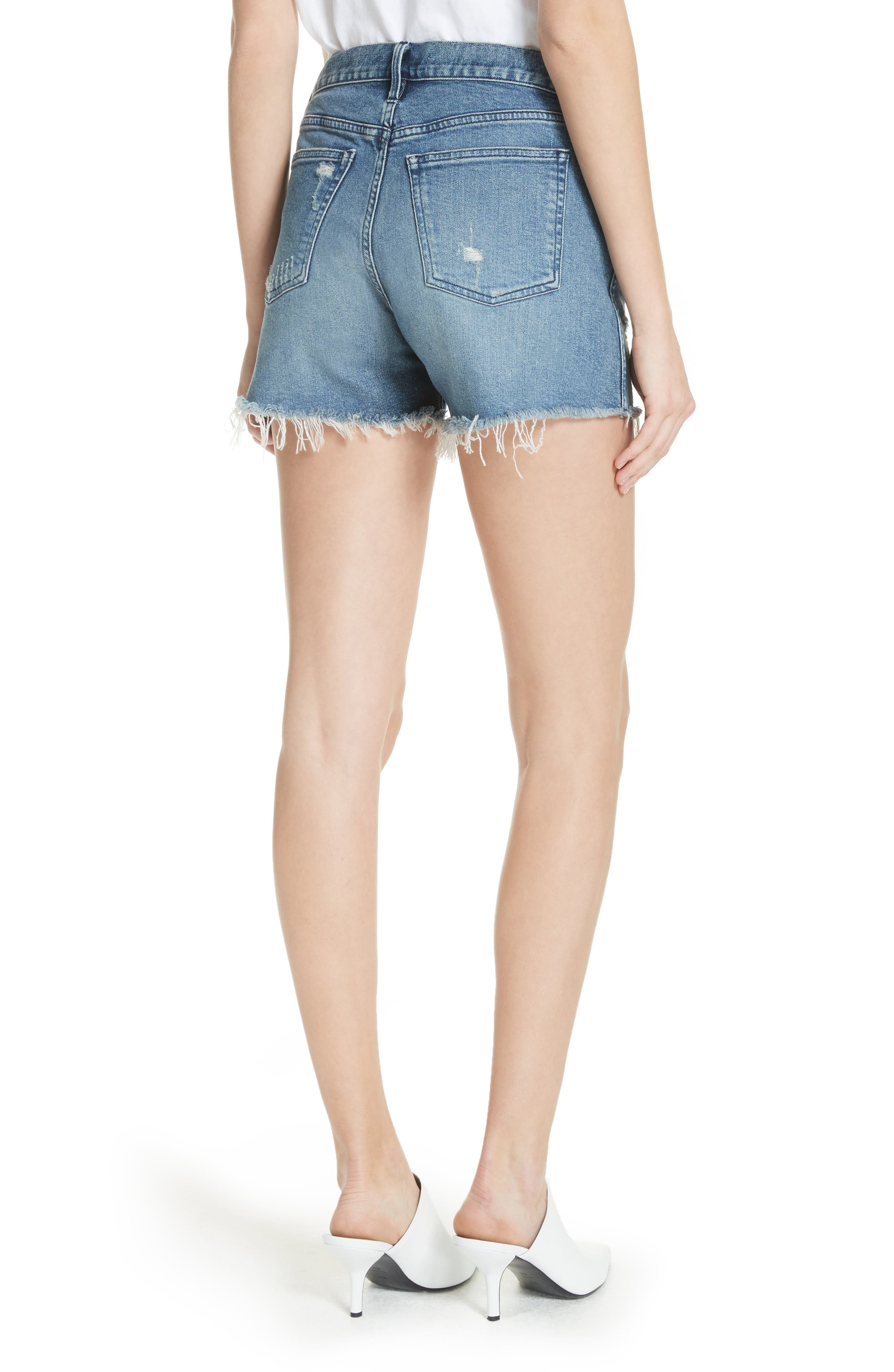 W4 Blake Raw Hem Denim Shorts,                             Alternate thumbnail 2, color,                             CHANCE