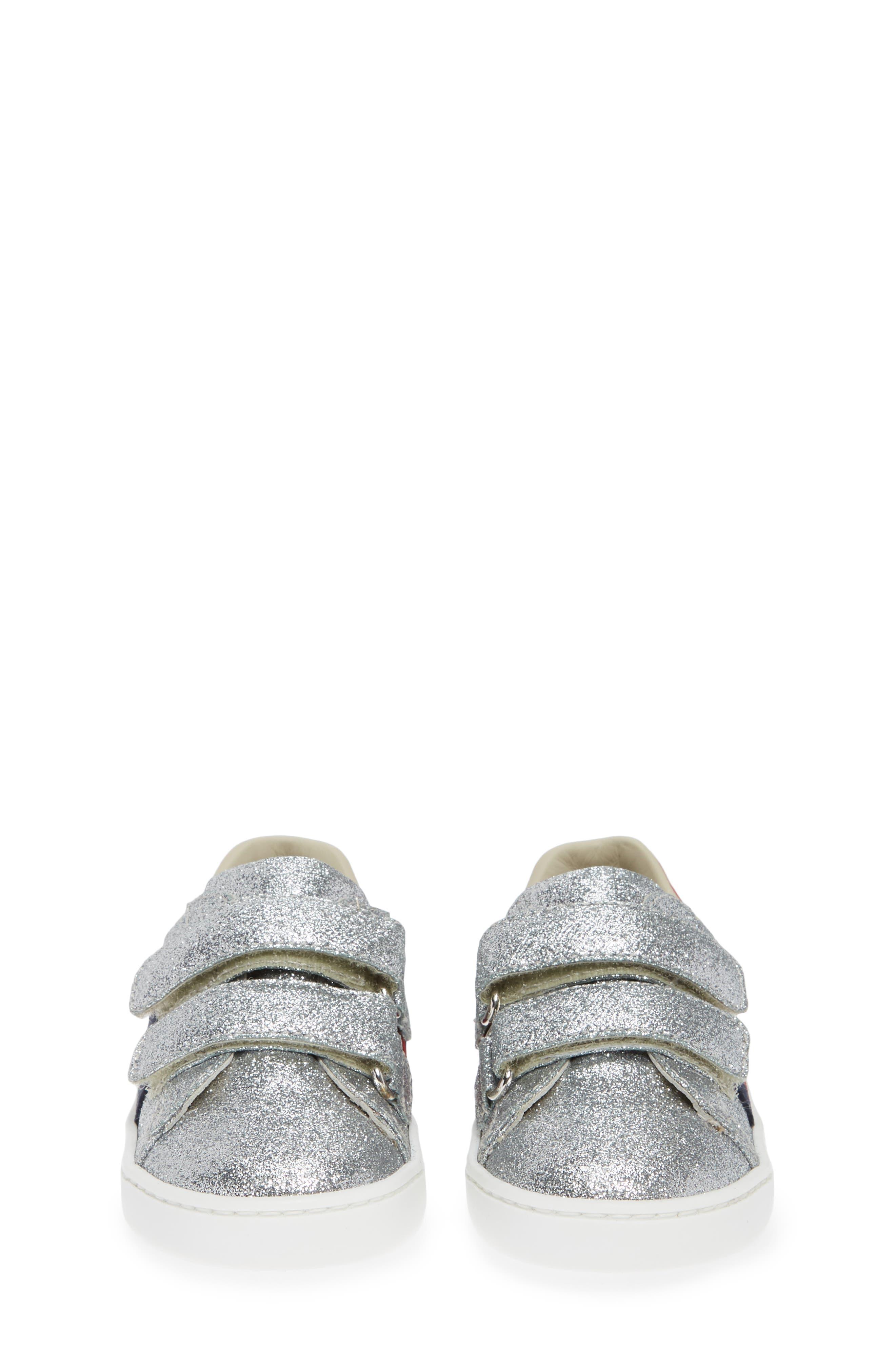 New Ace Sneaker,                             Alternate thumbnail 5, color,                             METALLIC SILVER