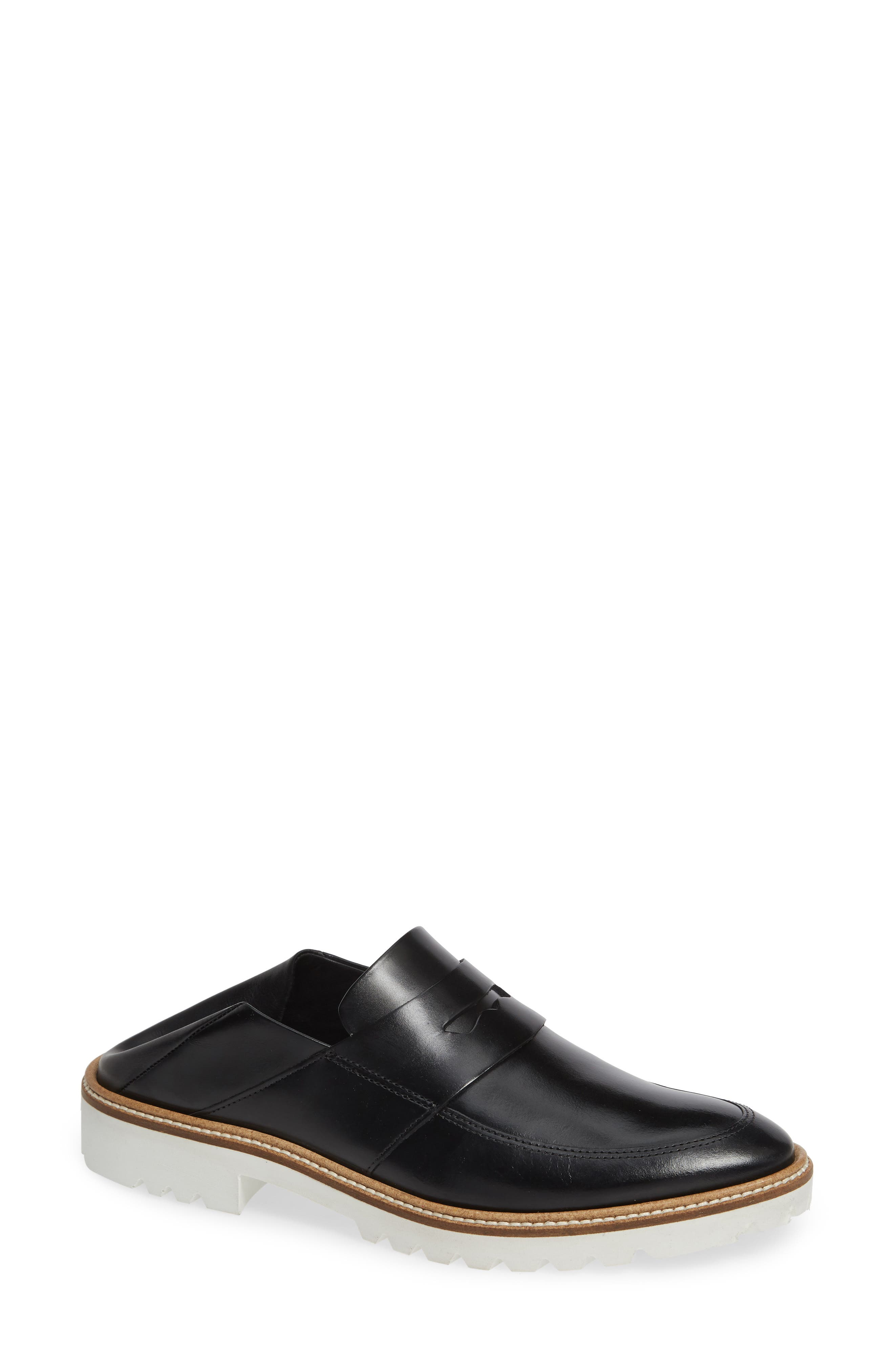 Incise Tailored Convertible Loafer,                             Main thumbnail 1, color,                             BLACK LEATHER