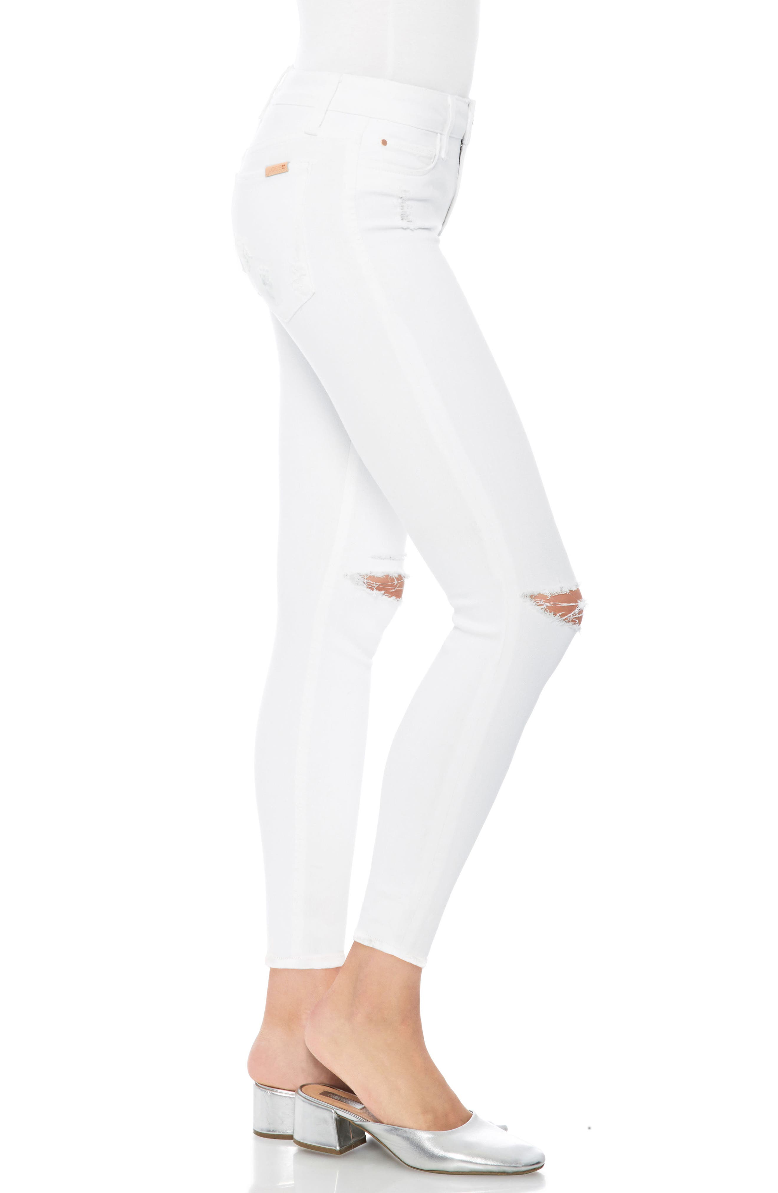 Flawless - Icon Crop Skinny Jeans,                             Alternate thumbnail 3, color,