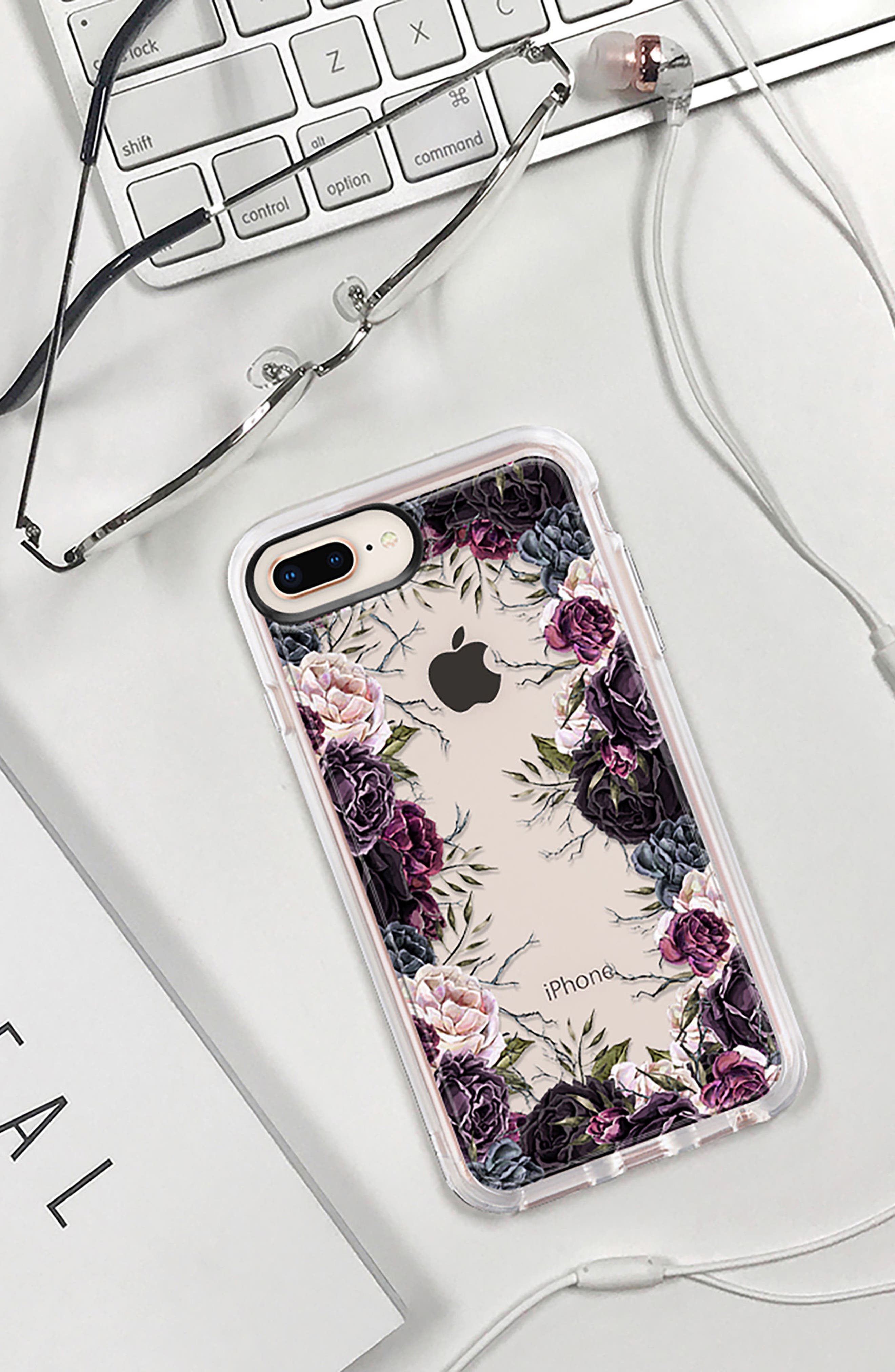 My Secret Garden Transparent iPhone 7/8 & 7/8 Plus Case,                             Alternate thumbnail 9, color,                             PURPLE