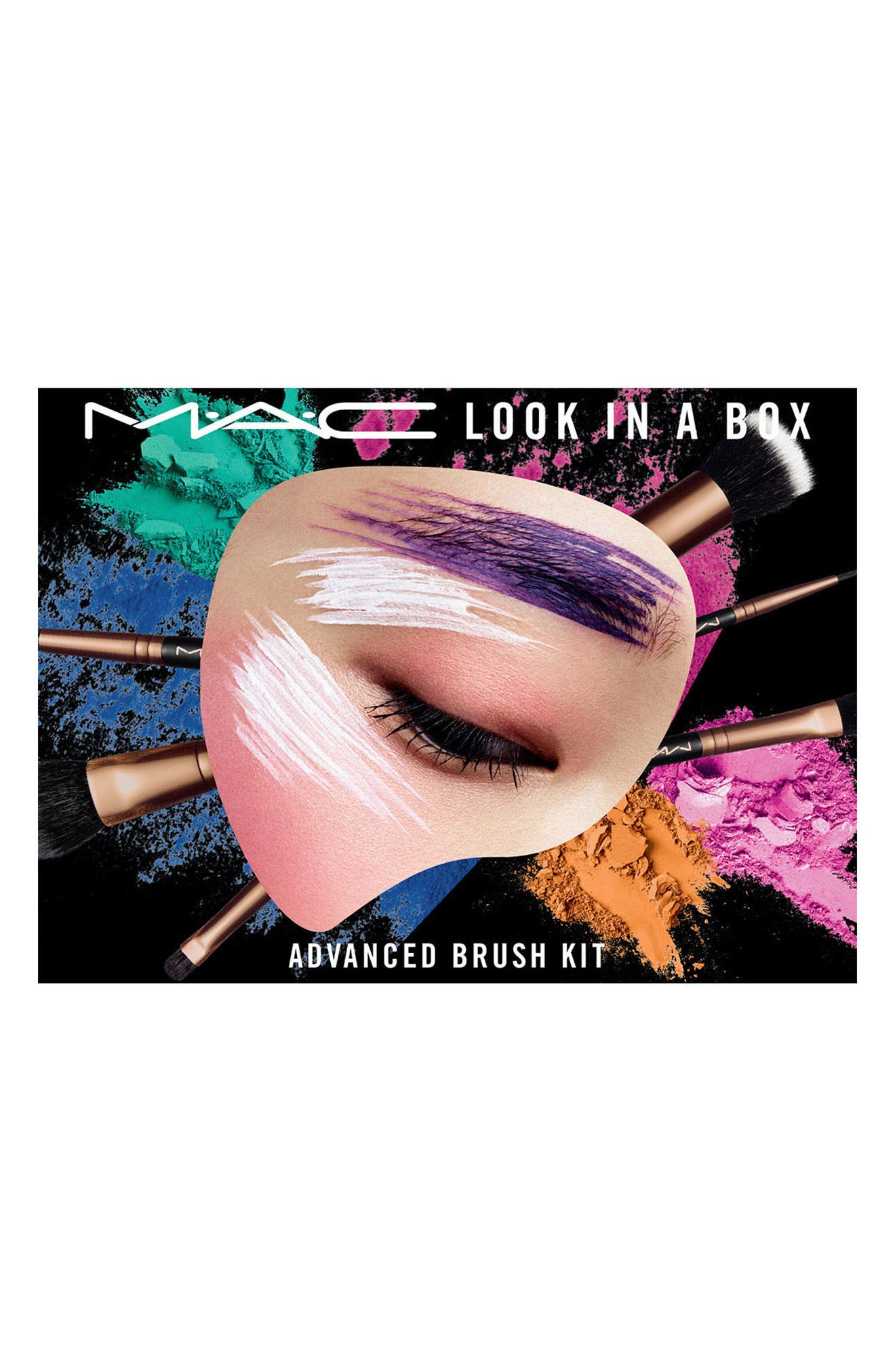 MAC Look in a Box Advanced Travel Brush Kit,                             Alternate thumbnail 2, color,                             000
