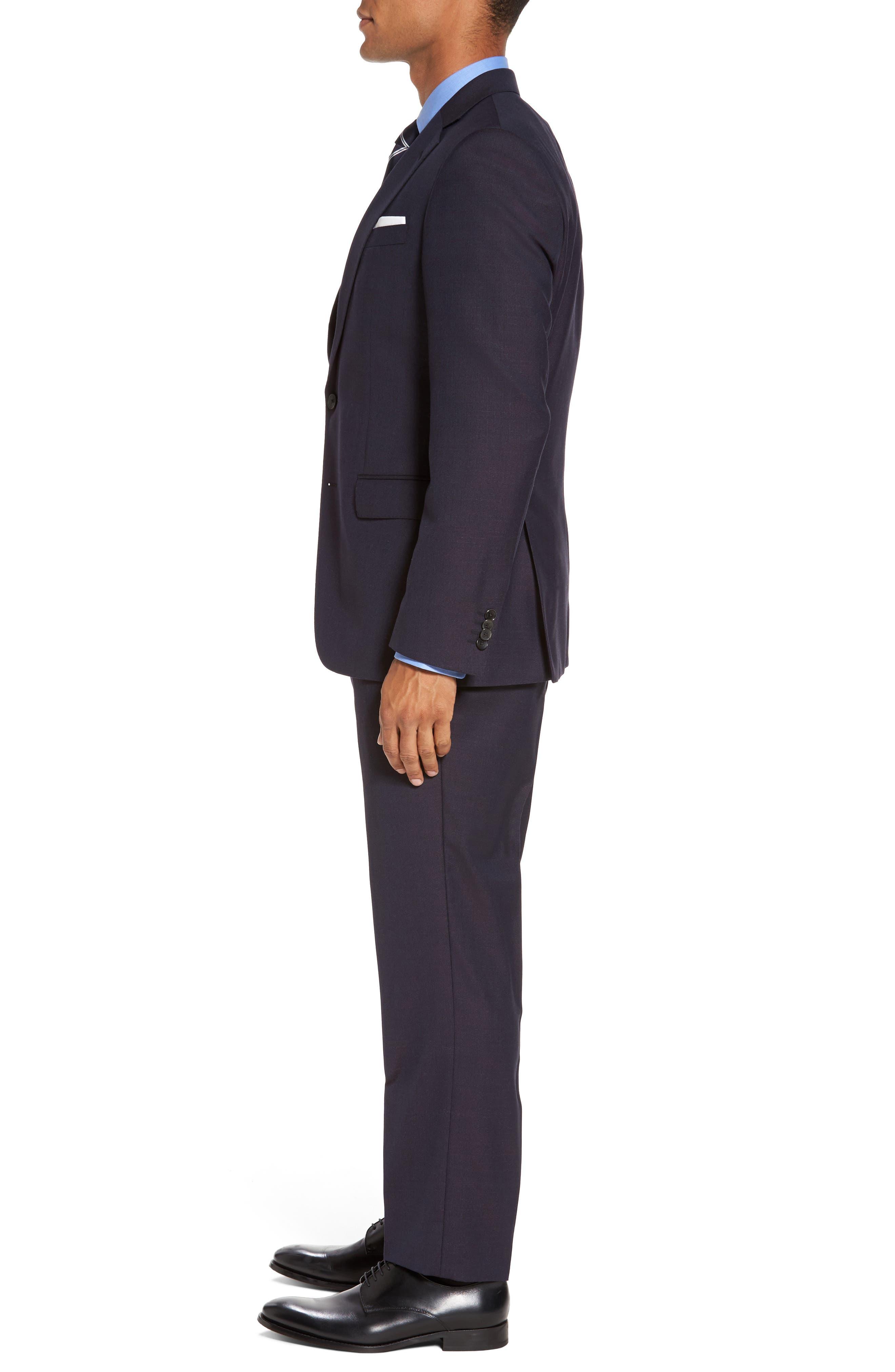Huge/Genius Trim Fit Wool Suit,                             Alternate thumbnail 3, color,                             606
