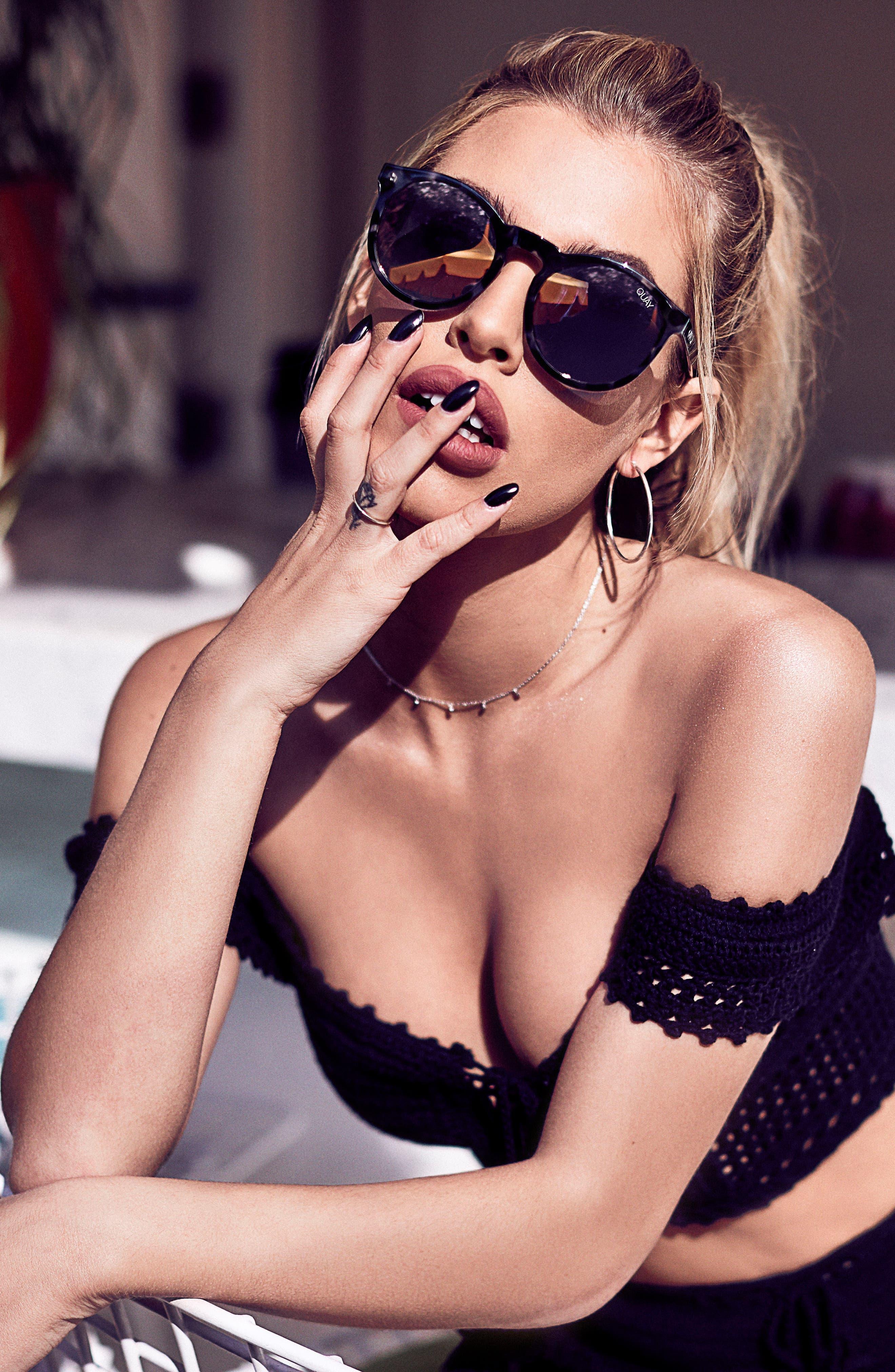 Kosha 49mm Round Sunglasses,                             Alternate thumbnail 9, color,