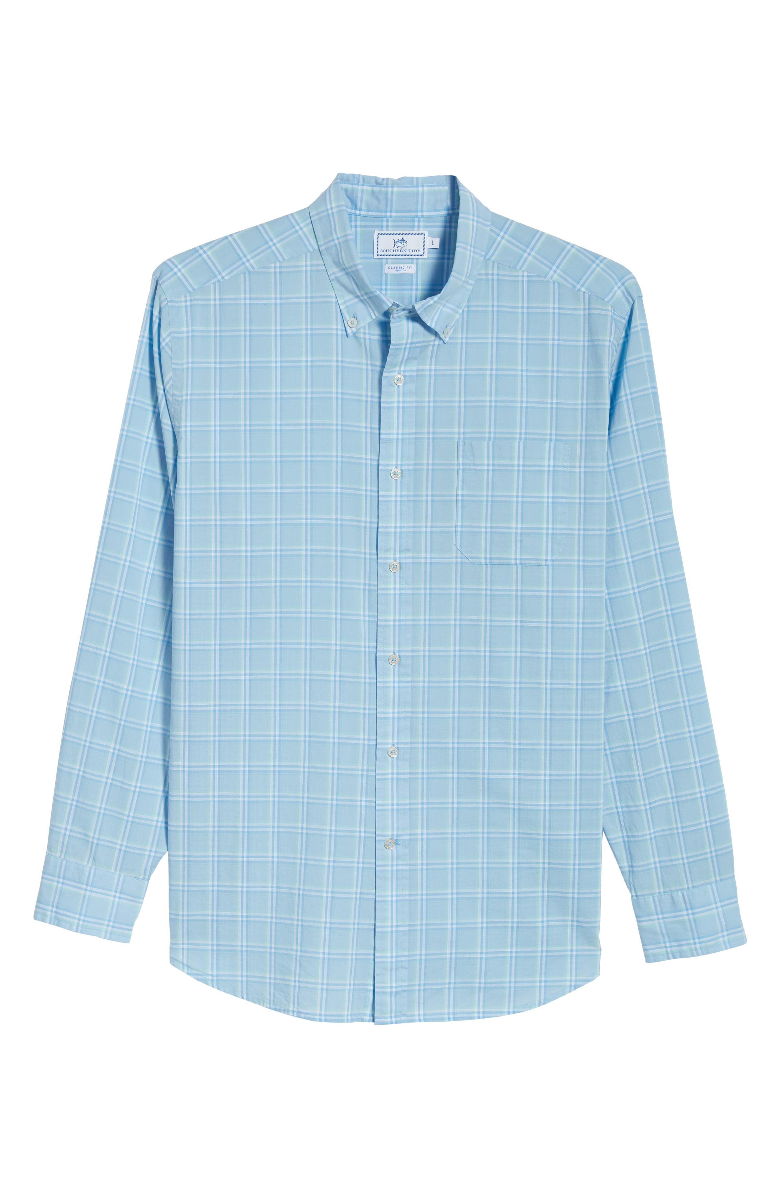 Roadstead Regular Fit Plaid Sport Shirt,                             Alternate thumbnail 6, color,                             450
