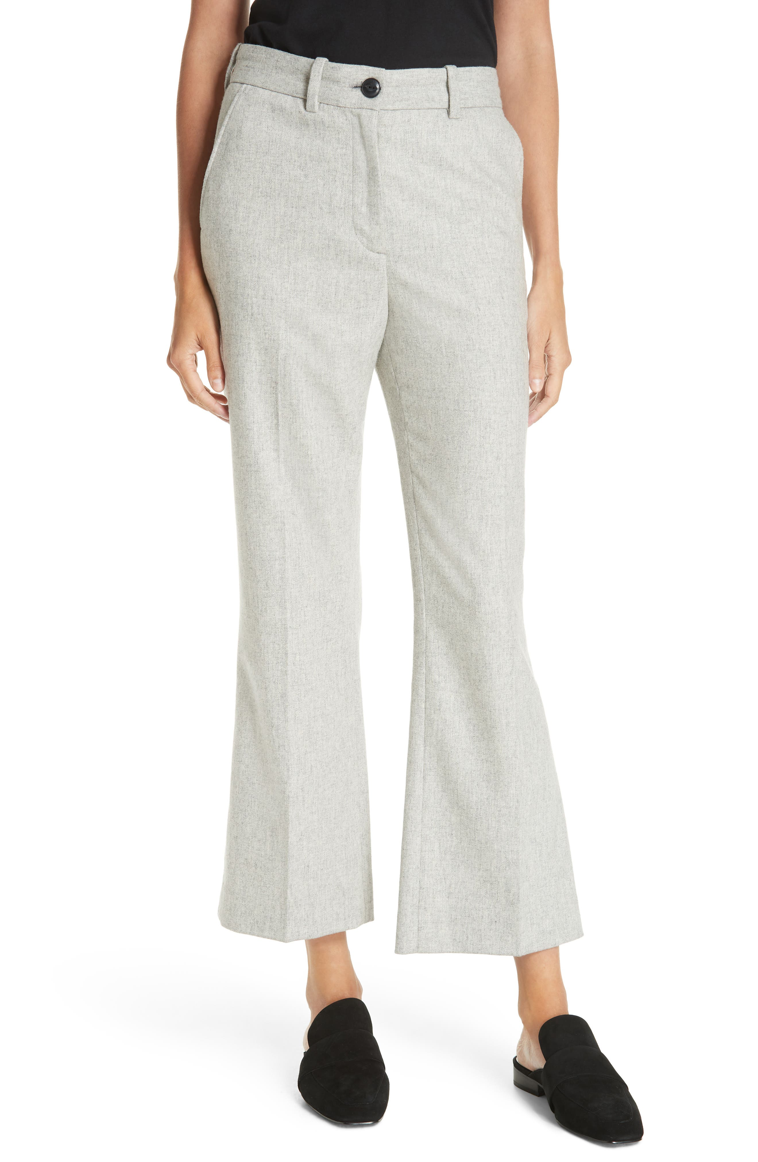 Rag & Bone Libby Crop Flare Pants, Grey