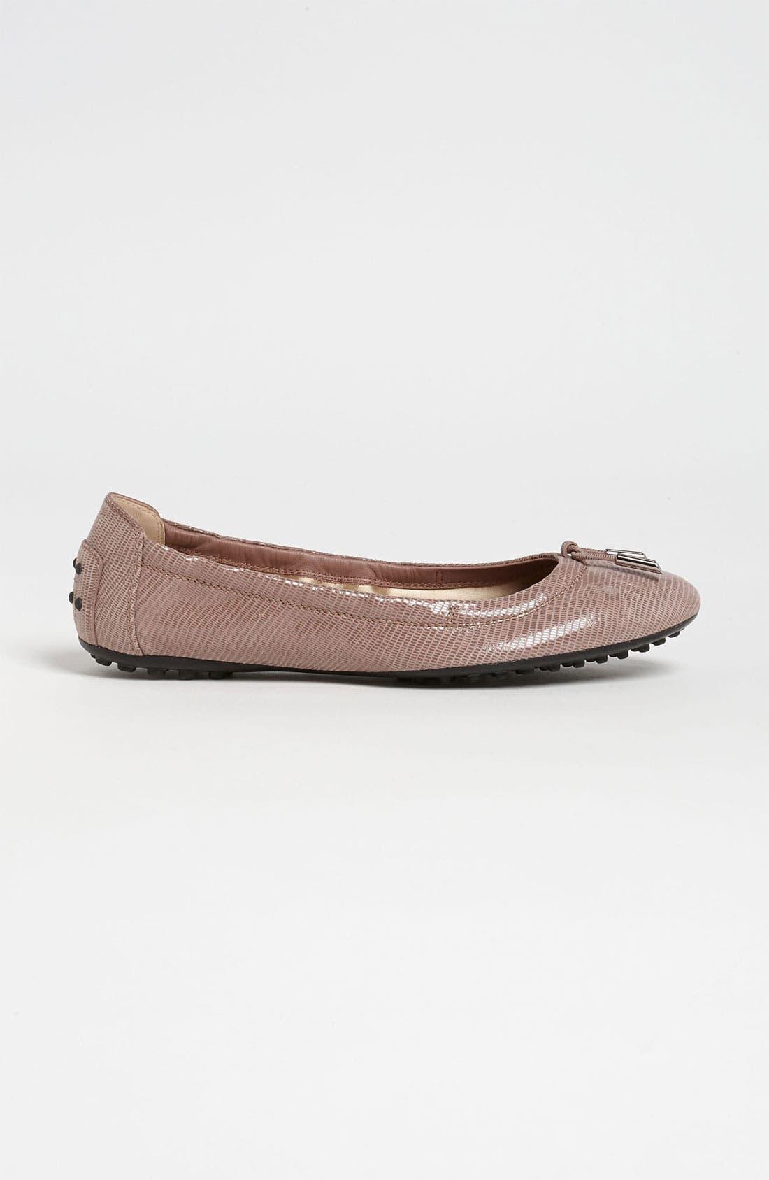 Bow Trim Patent Leather Flat,                             Alternate thumbnail 8, color,
