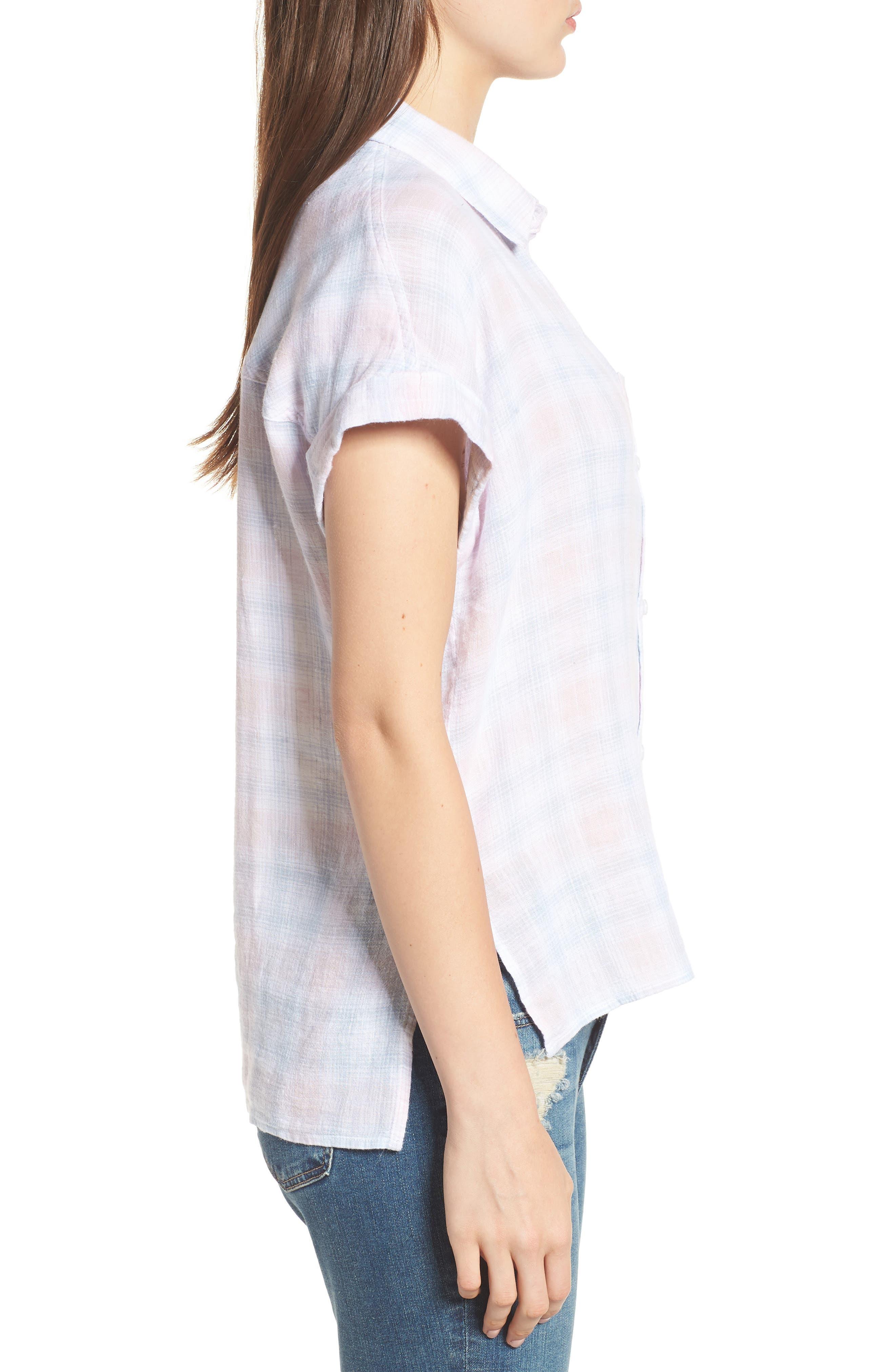Whitney Shirt,                             Alternate thumbnail 3, color,                             WHITE BLUSH SKY