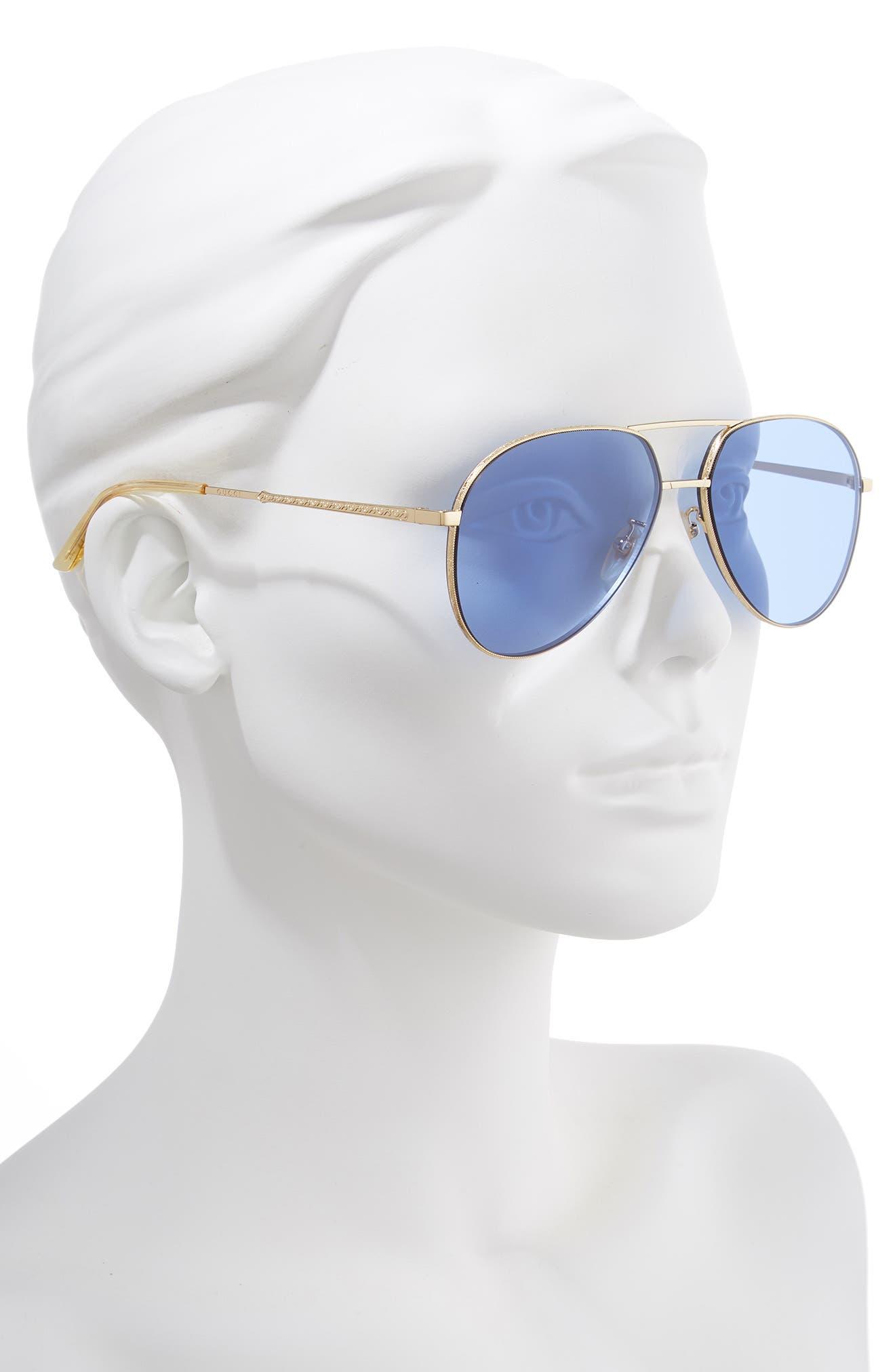 59mm Metal Aviator Sunglasses,                             Alternate thumbnail 2, color,                             712