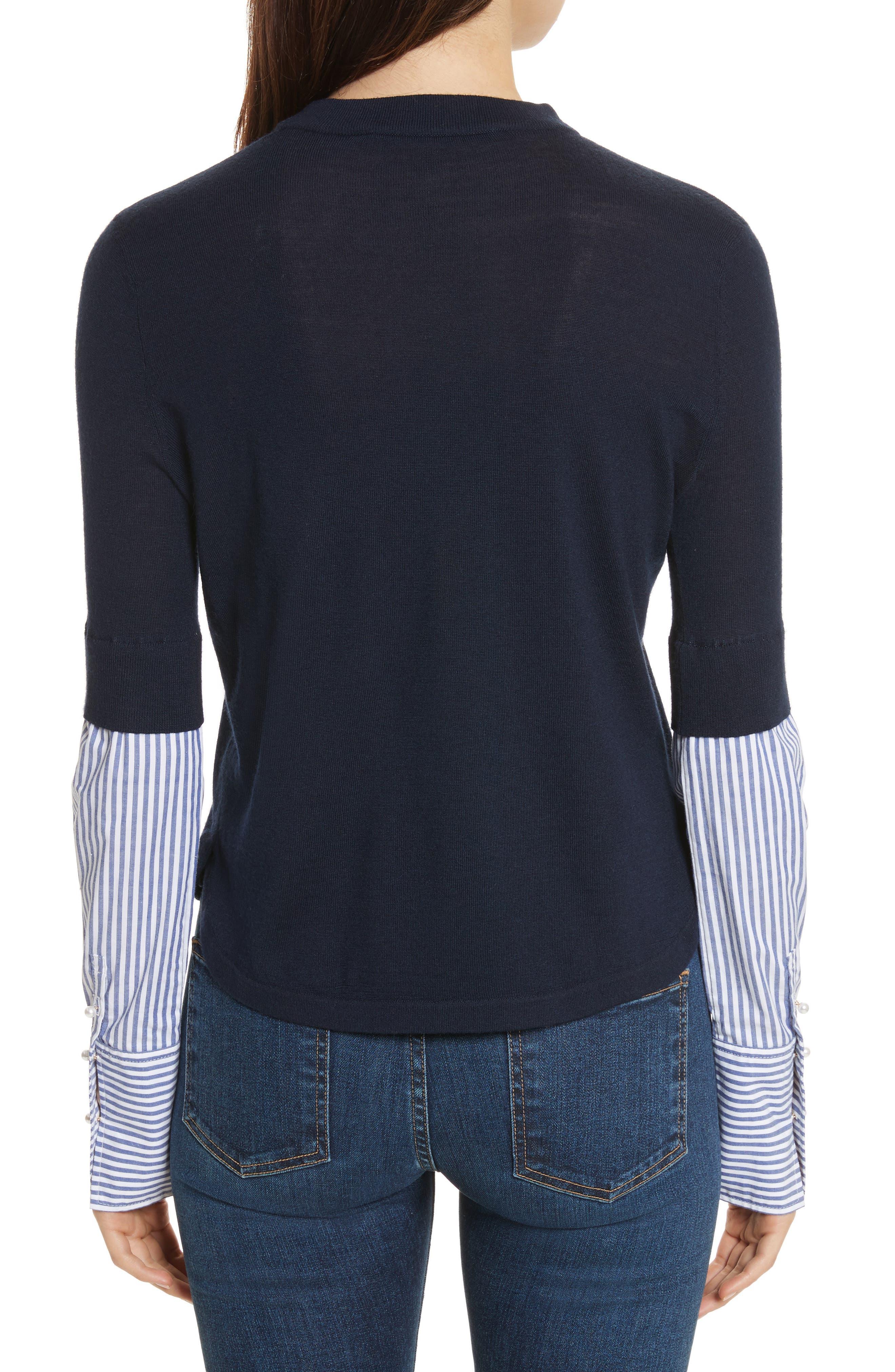 Roscoe Mixed Media Sweater,                             Alternate thumbnail 2, color,                             410