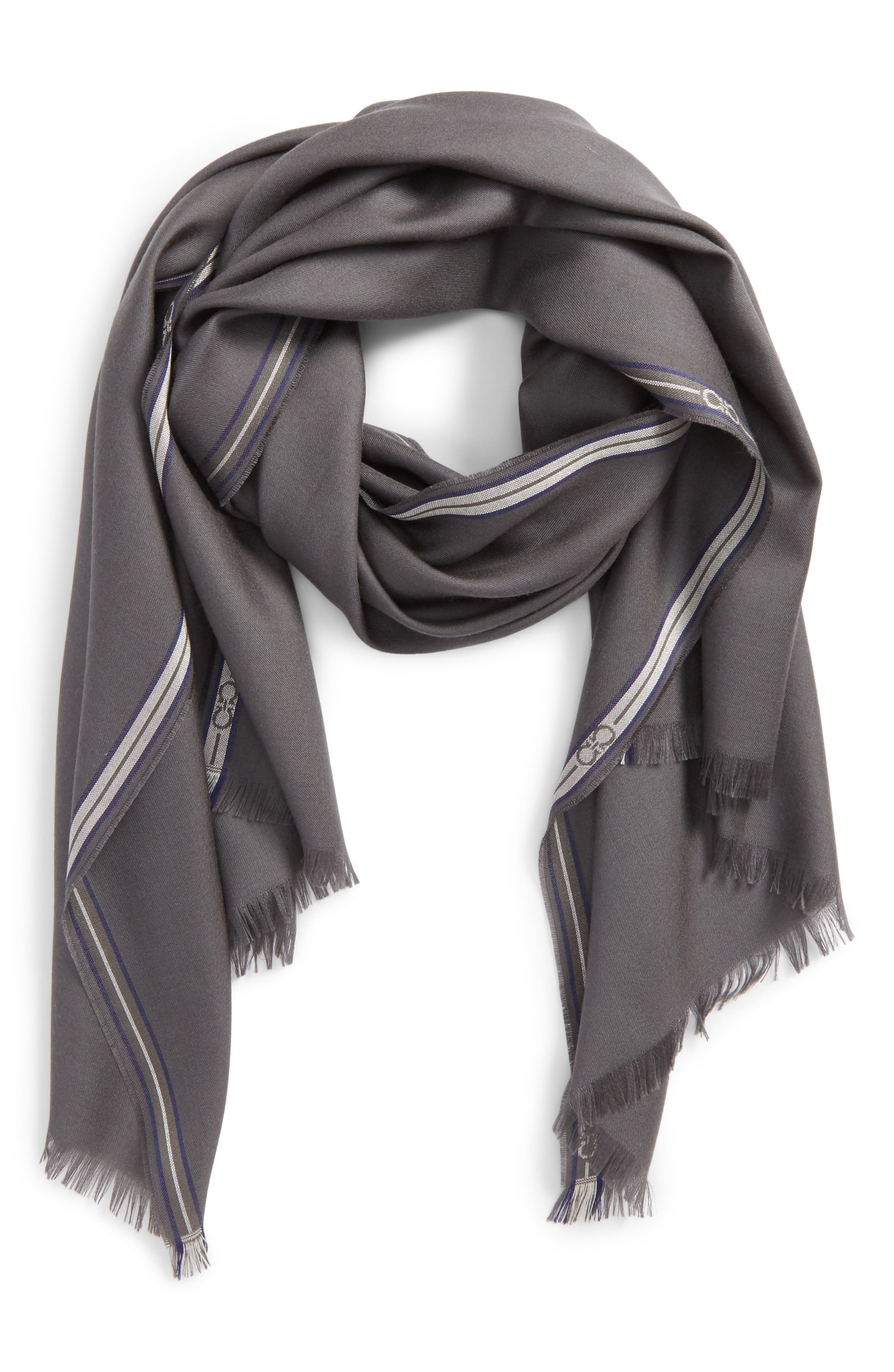Wool & Silk Fringed Scarf,                         Main,                         color, 094