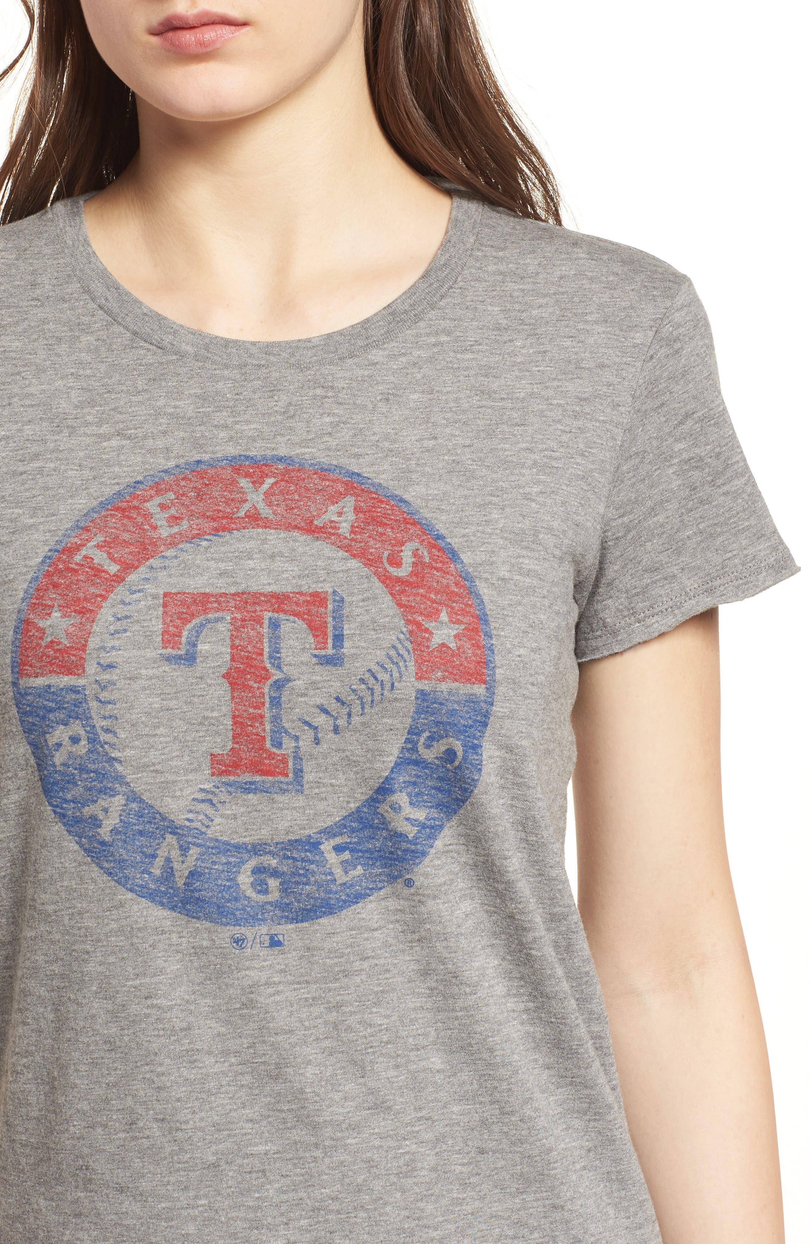 Texas Rangers Fader Letter Tee,                             Alternate thumbnail 4, color,                             021