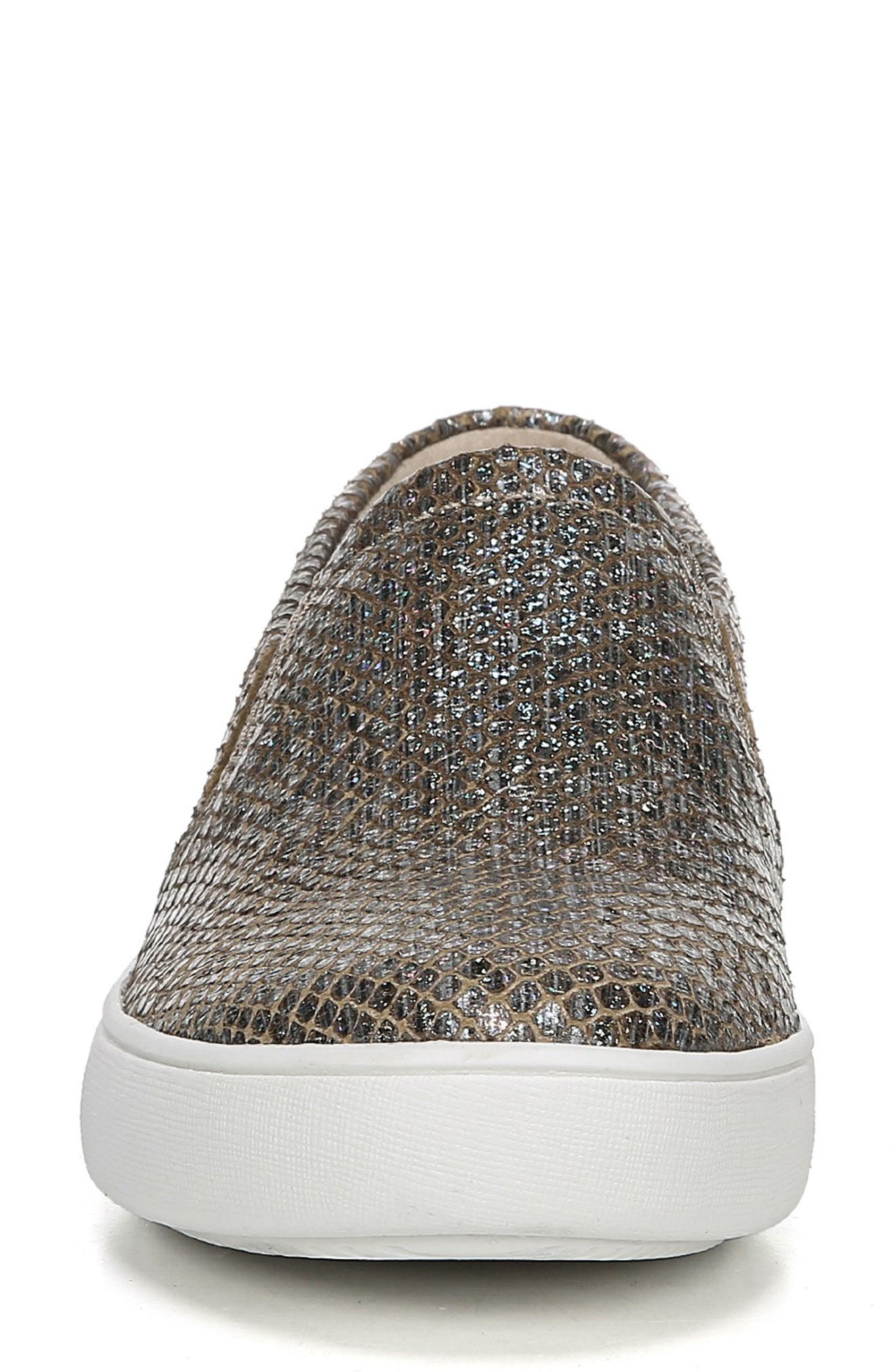 Marianne Slip-On Sneaker,                             Alternate thumbnail 4, color,                             PEWTER PRINTED LEATHER
