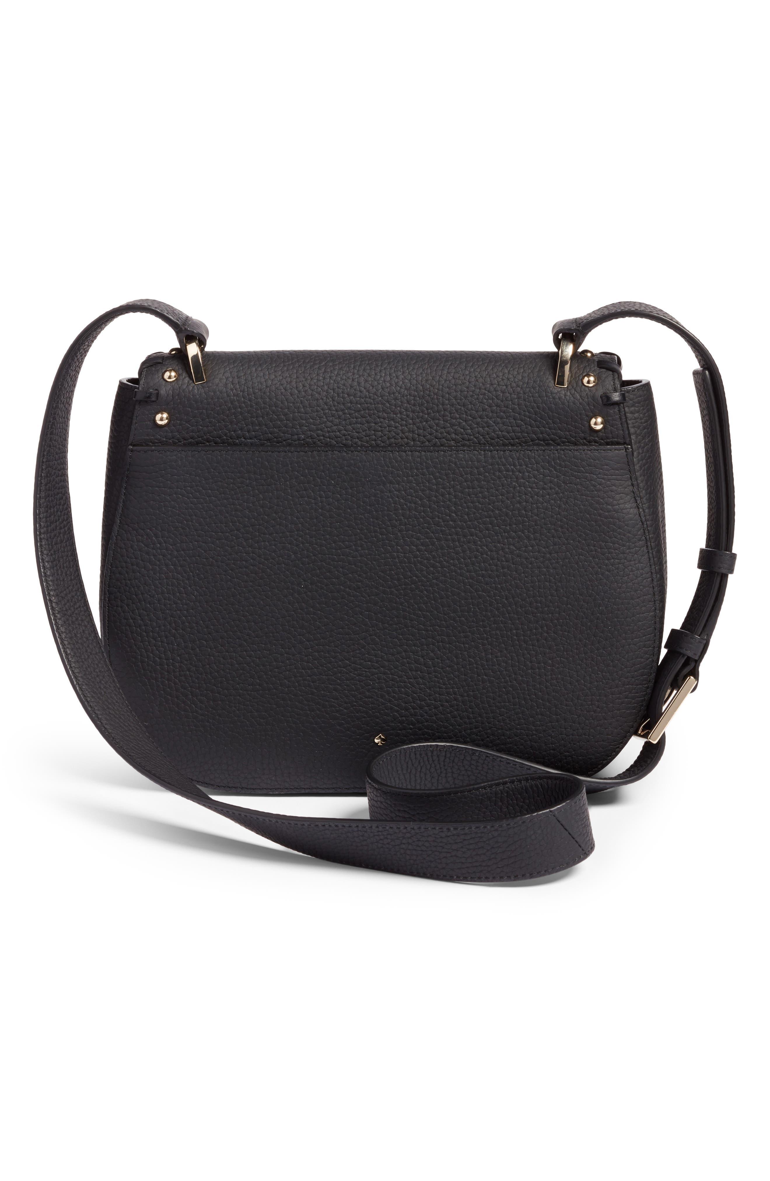 madison daniels drive - tressa embellished leather crossbody bag,                             Alternate thumbnail 3, color,                             001