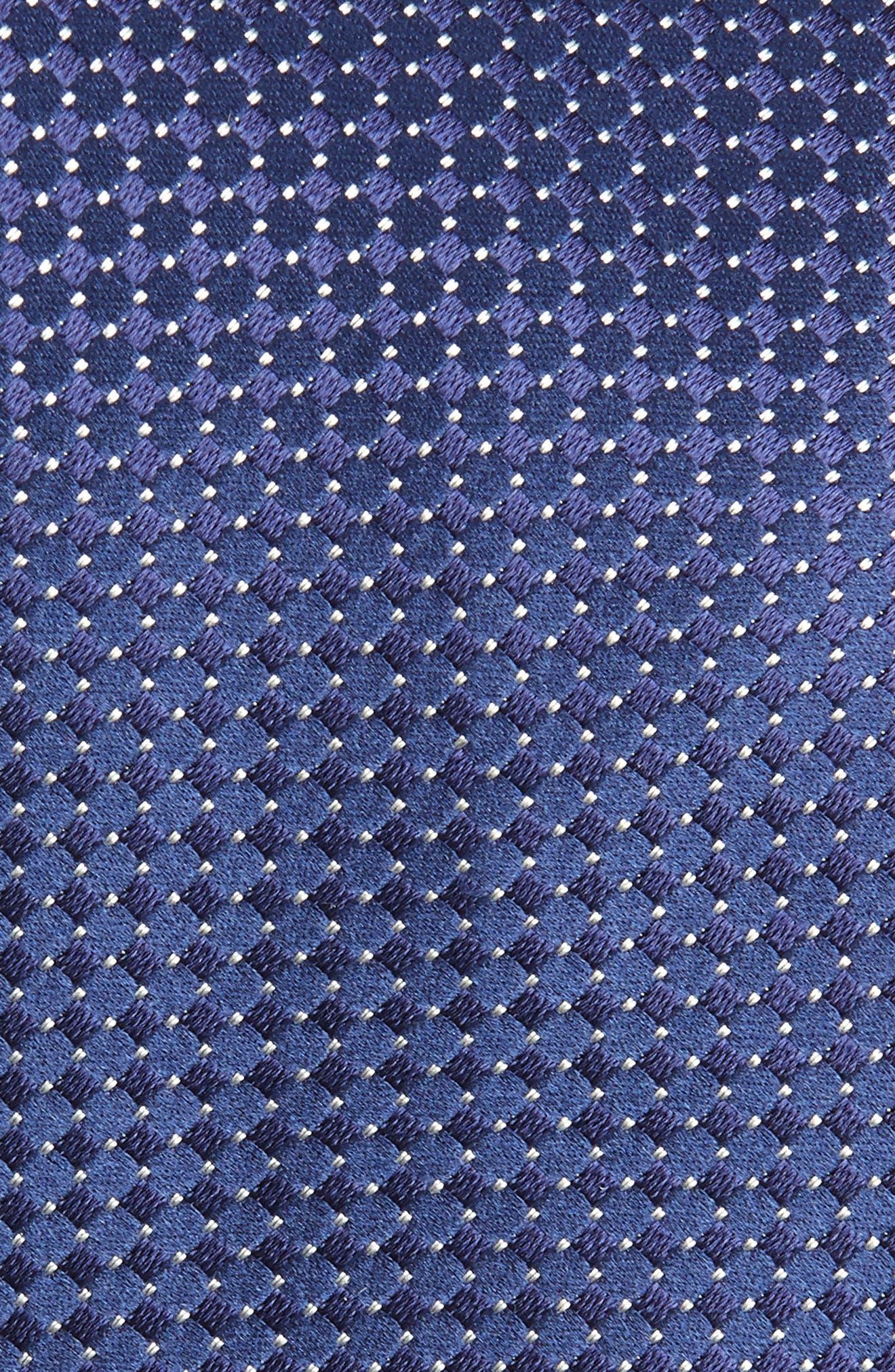 Neat Silk Tie,                             Alternate thumbnail 2, color,                             NAVY
