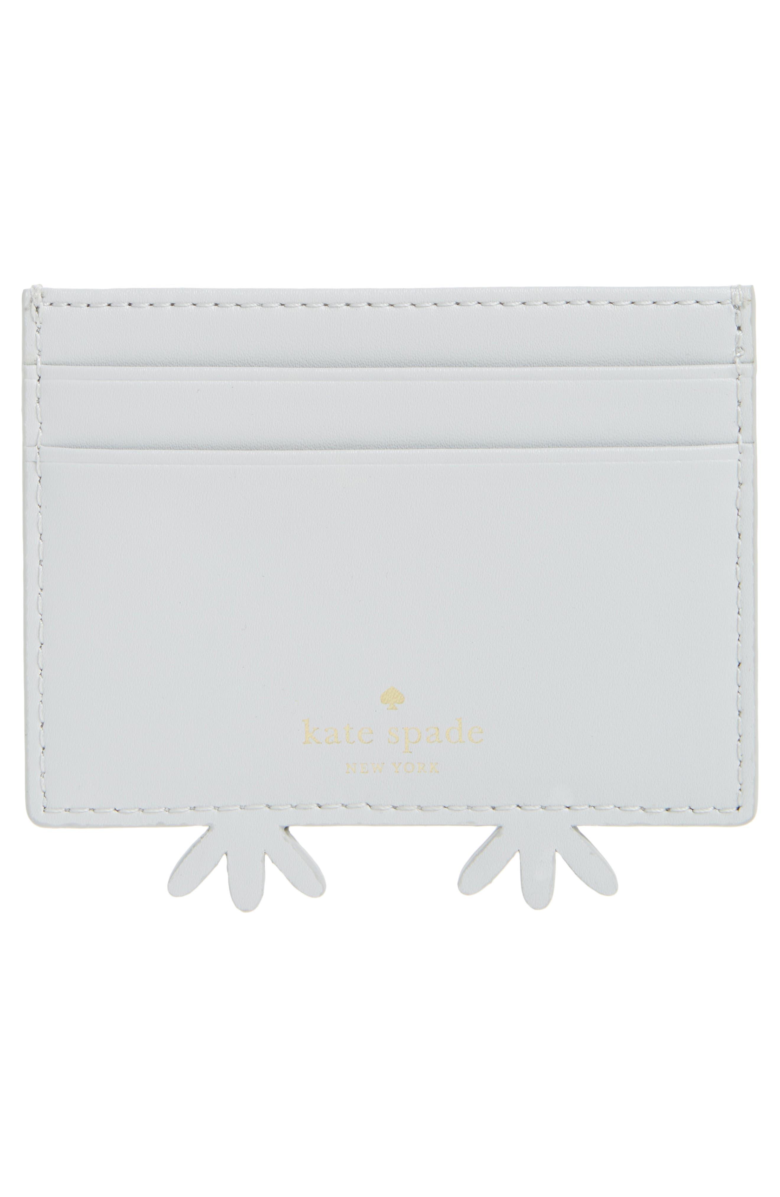starbright owl leather card holder,                             Alternate thumbnail 2, color,                             100