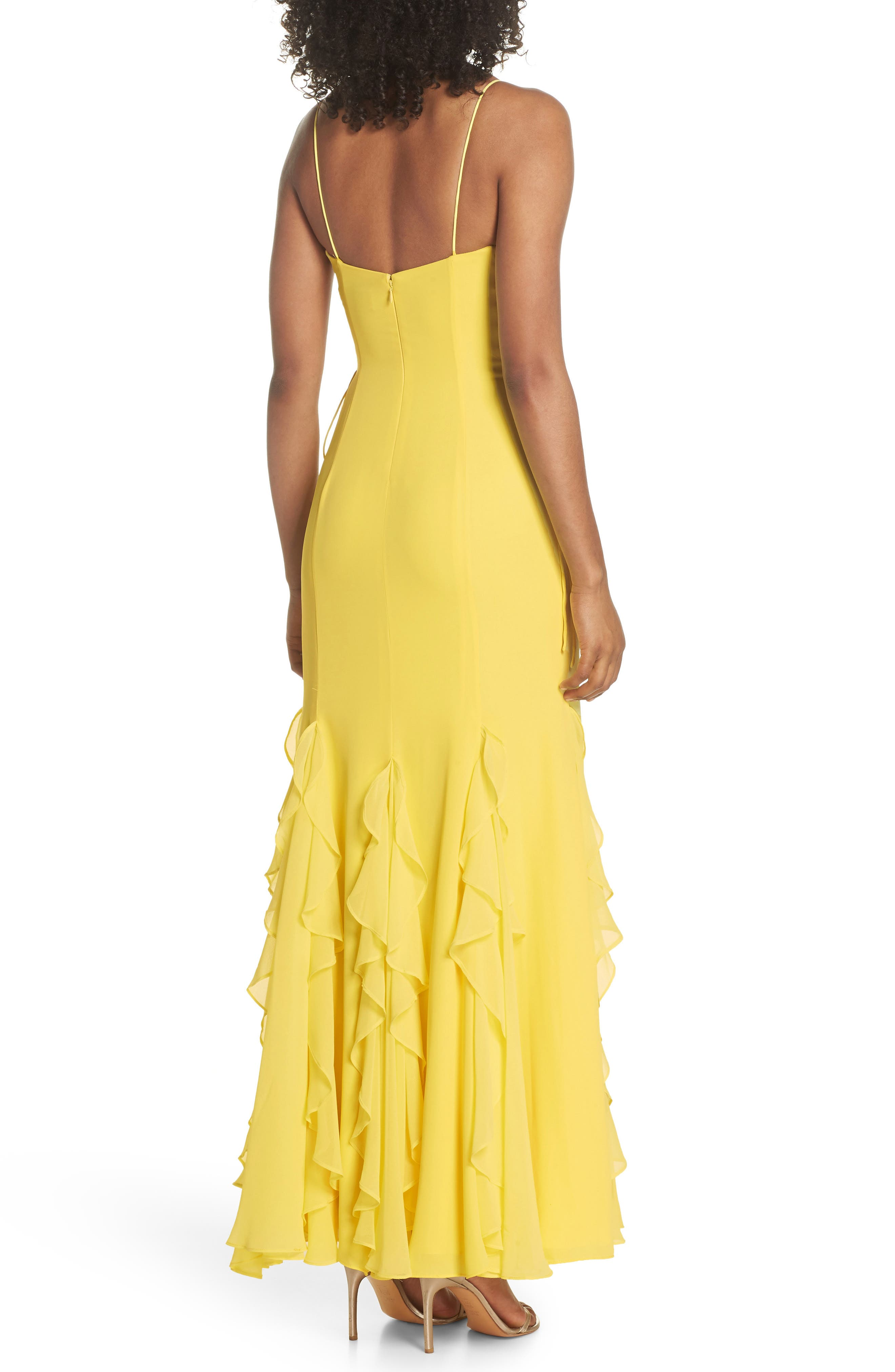 Lara Lace-Up Georgette Gown,                             Alternate thumbnail 2, color,                             740