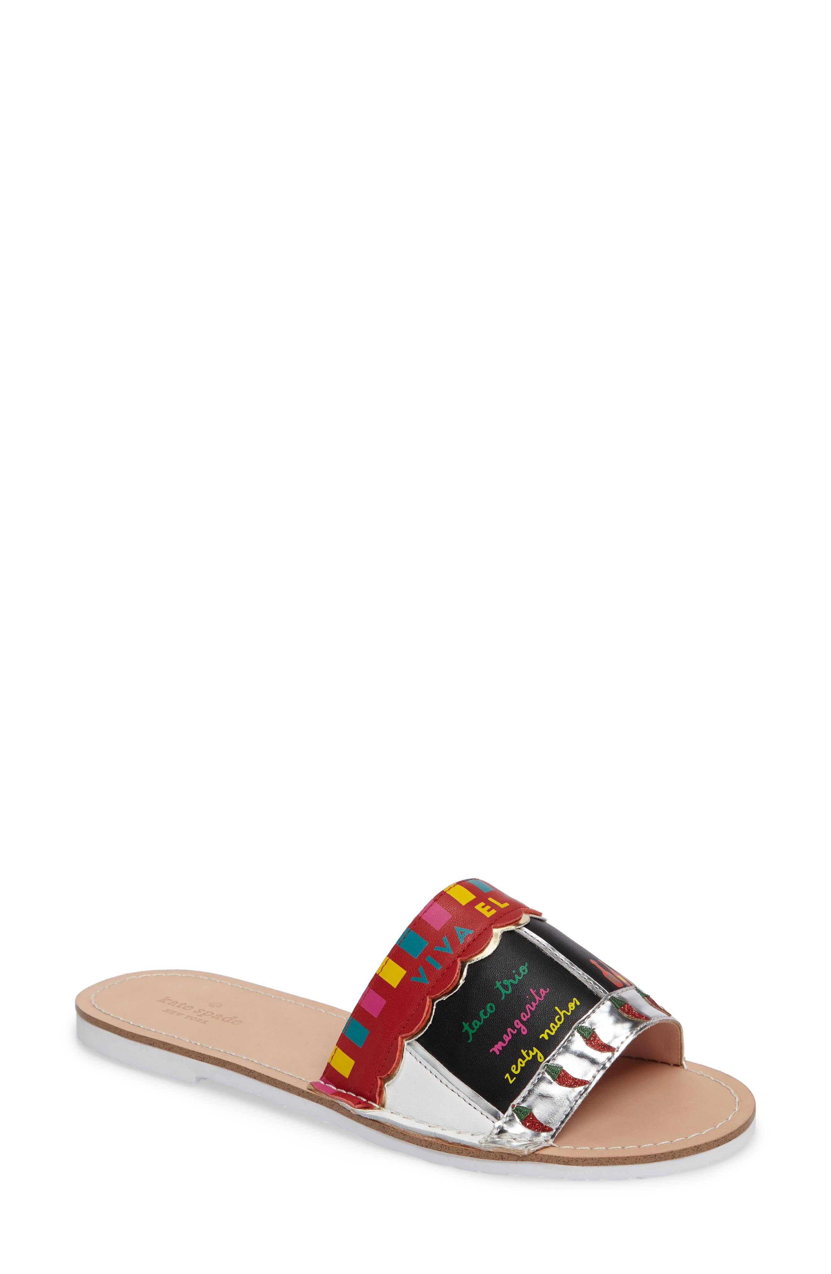 illi slide sandal,                             Main thumbnail 1, color,                             001