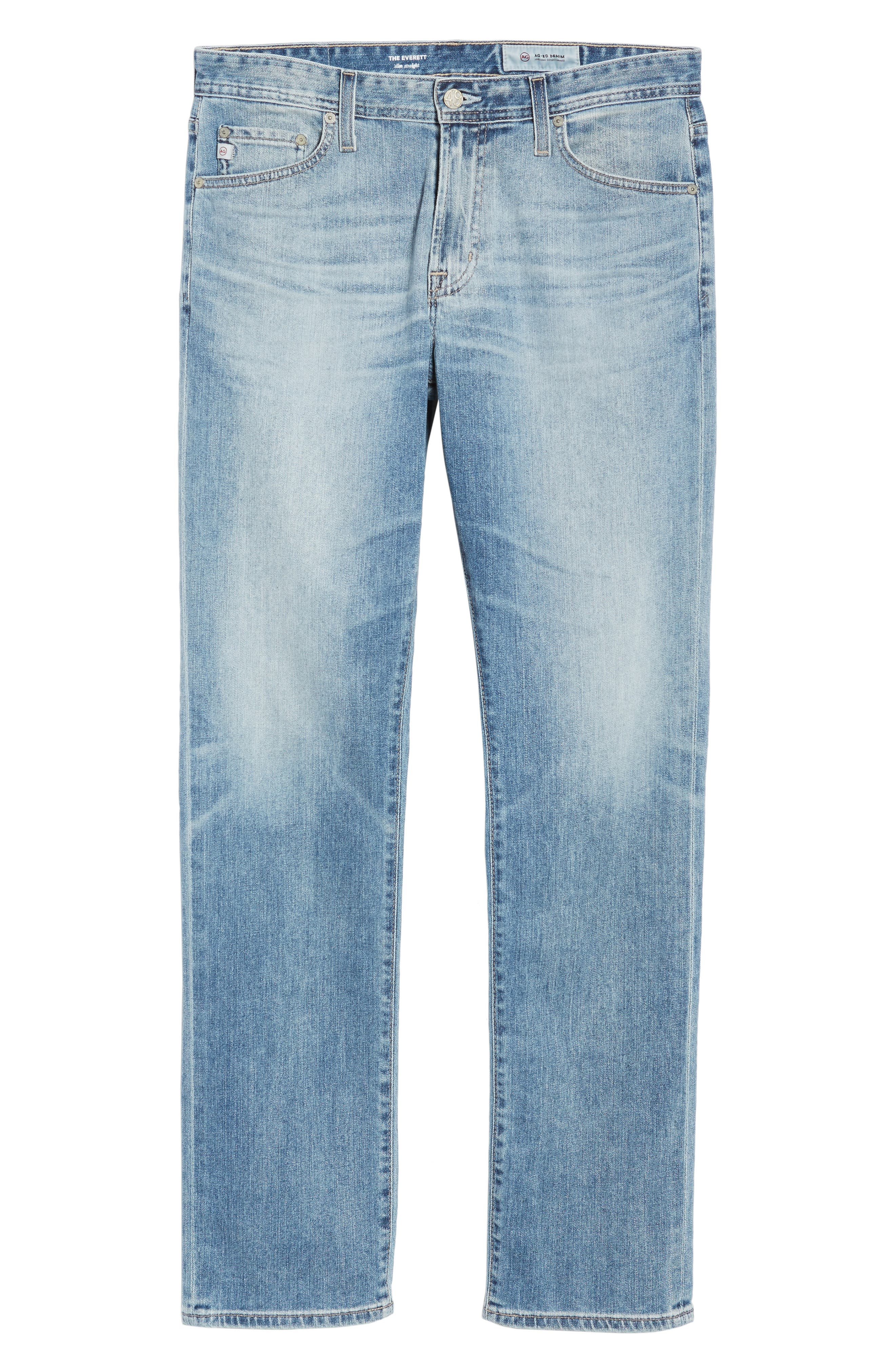 Everett Slim Straight Fit Jeans,                             Alternate thumbnail 6, color,                             452
