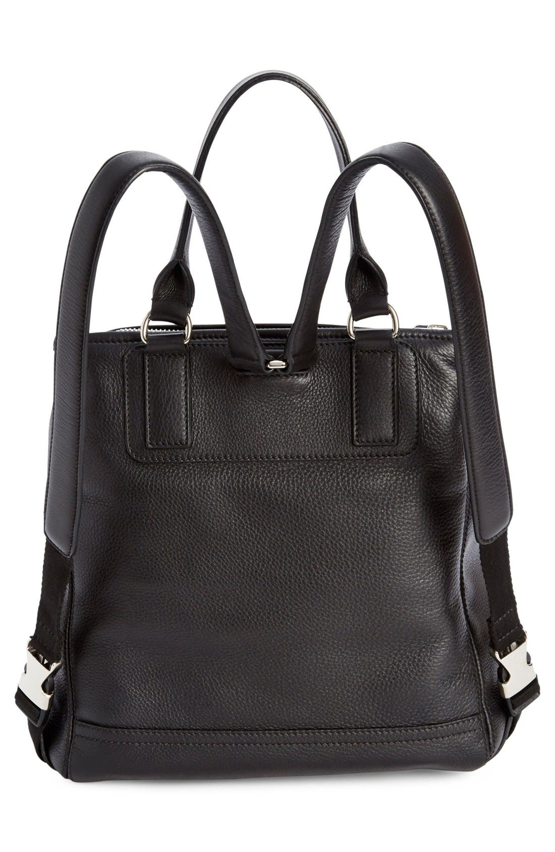 'Pandora' Waxy Leather Backpack,                             Alternate thumbnail 6, color,                             001
