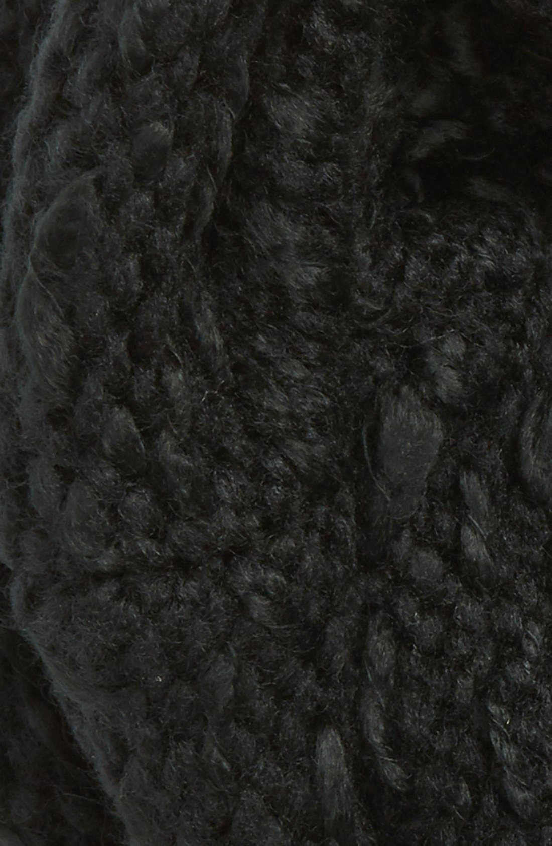 'Thick Thin' Knit Infinity Scarf,                             Alternate thumbnail 3, color,                             001