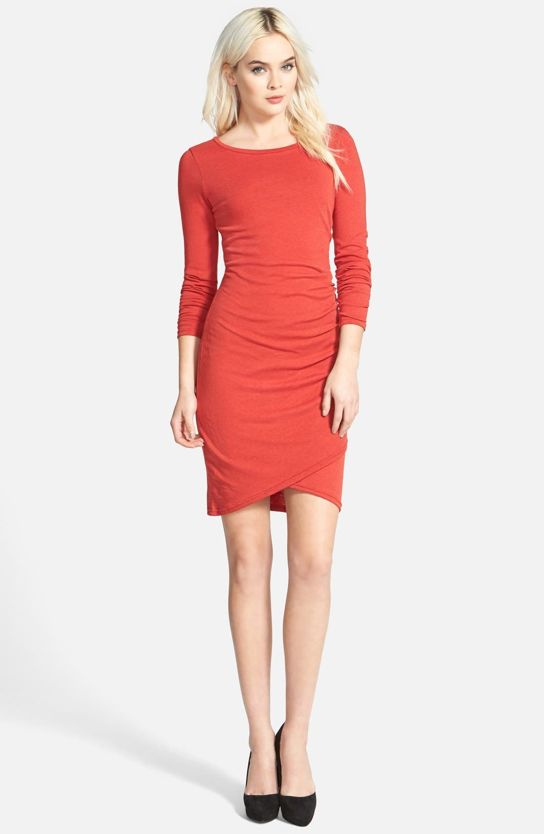 Ruched Long Sleeve Dress,                             Main thumbnail 19, color,
