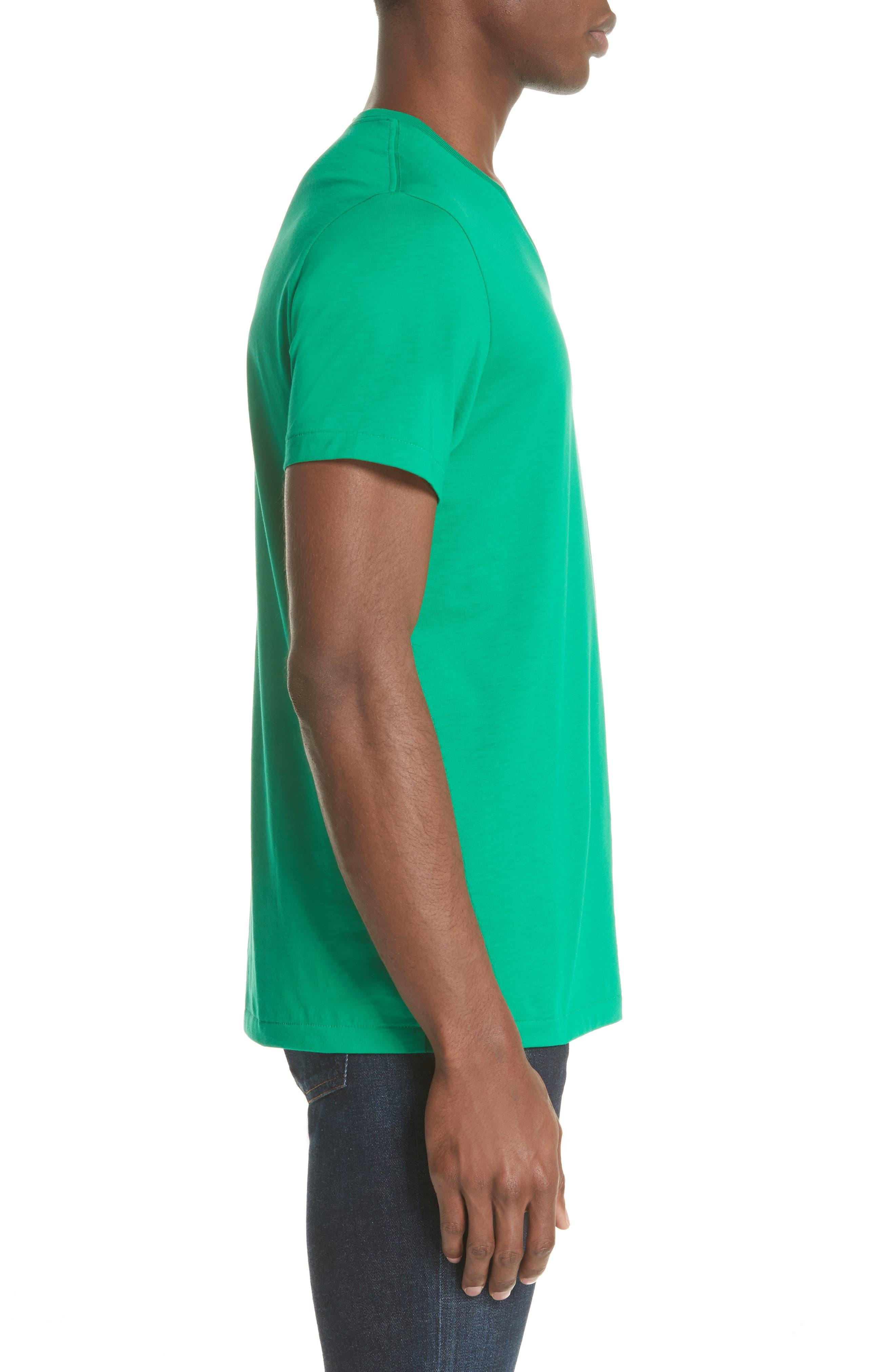 Jadford V-Neck T-Shirt,                             Alternate thumbnail 3, color,                             BRIGHT GREEN