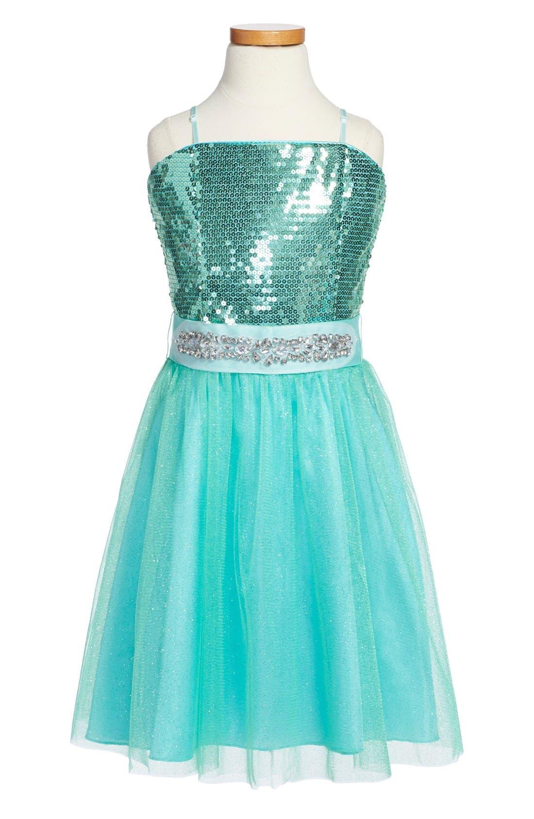 Sequin Party Dress,                         Main,                         color,